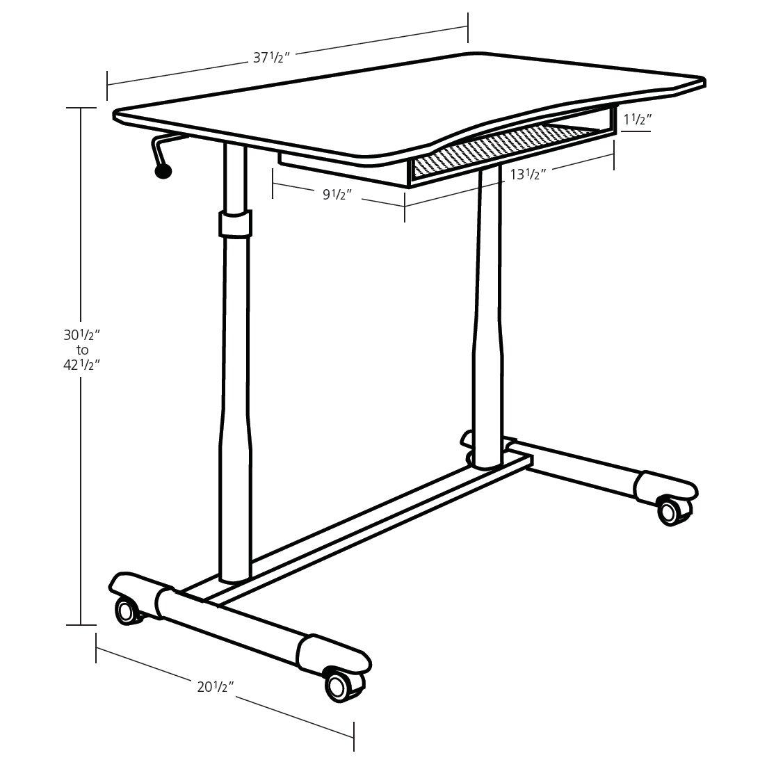 Jesper Office Ergonomics Height Adjustable Stand Up Desk
