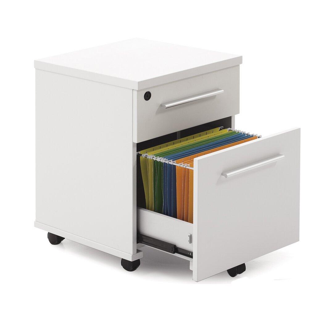 jesper office 500 series mobile file cabinet with lock castors reviews wayfair. Black Bedroom Furniture Sets. Home Design Ideas