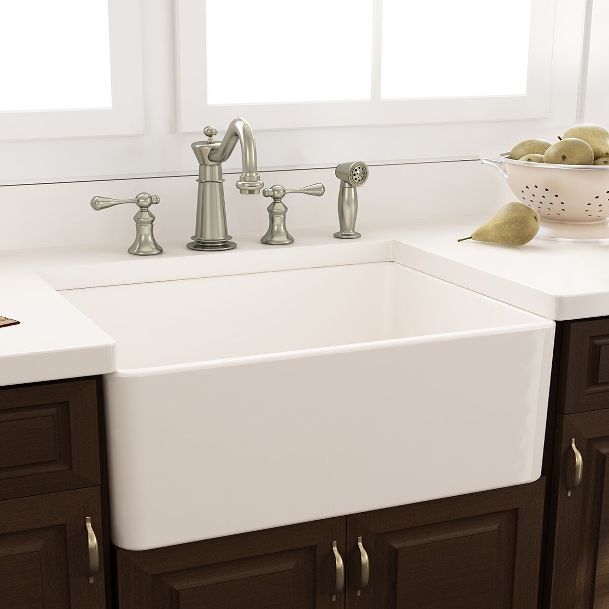 Nantucket Sinks X 18 Fireclay Farmhouse Kitchen Sink With Grid And Drain Reviews Wayfair
