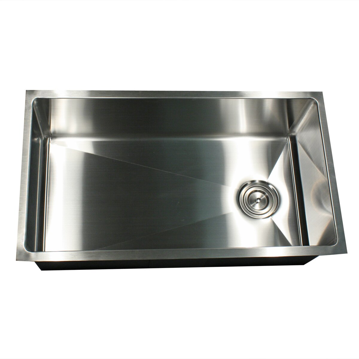 nantucket sinks 32 x 18 small radius stainless steel kitchen sink reviews wayfair. Black Bedroom Furniture Sets. Home Design Ideas