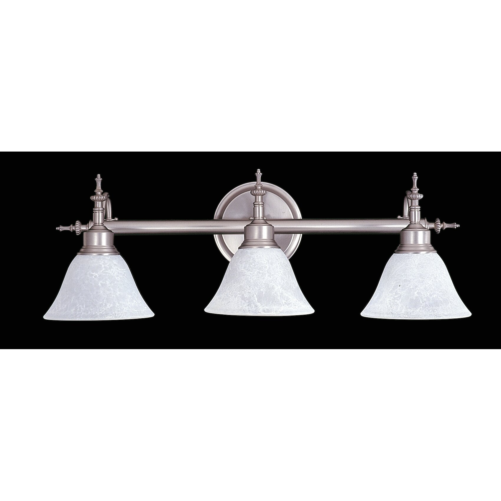 black forest 3 light bath marble glass vanity light by framburg