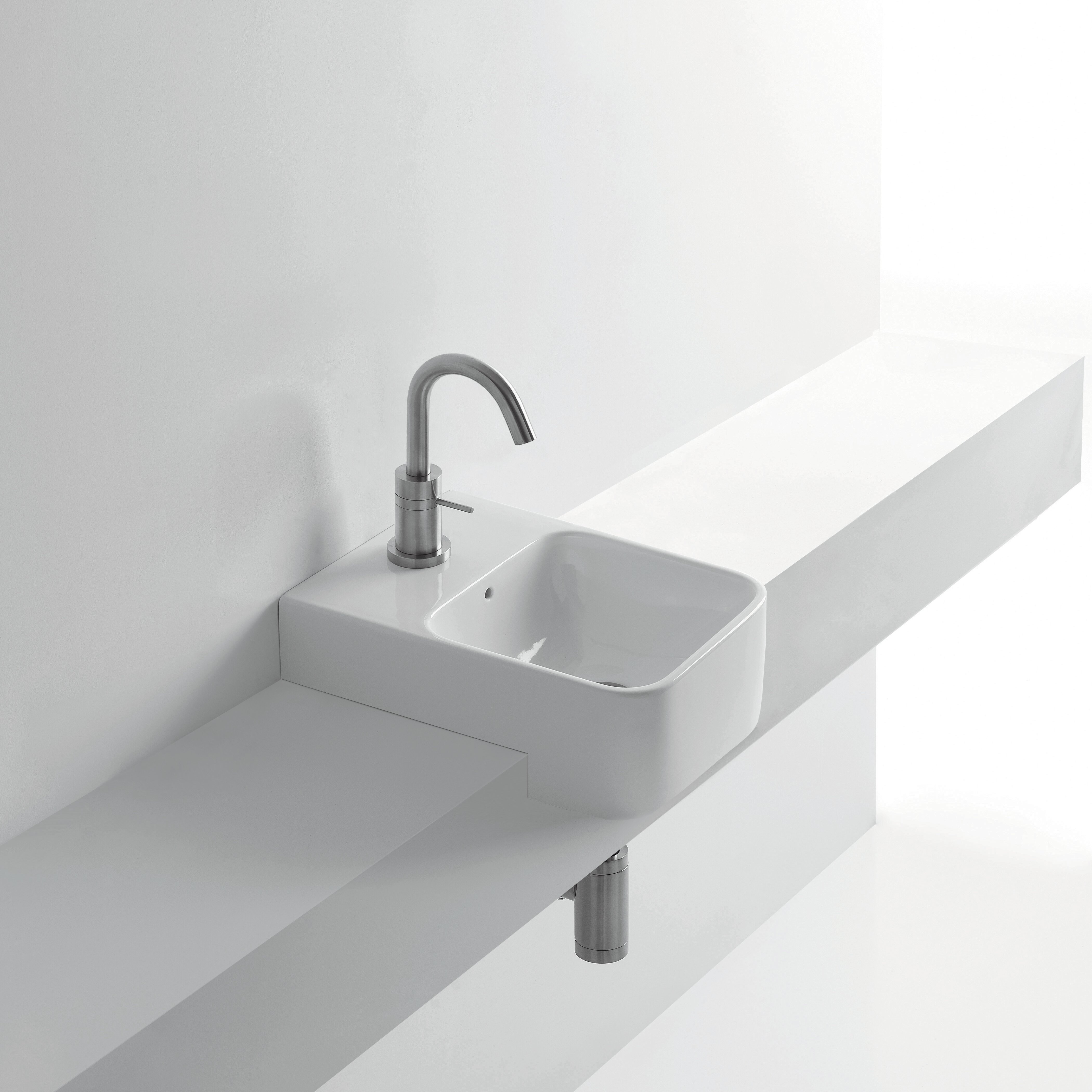 Recessed Bathroom Sink : Normal Semi-Recessed Bathroom Sink by WS Bath Collections