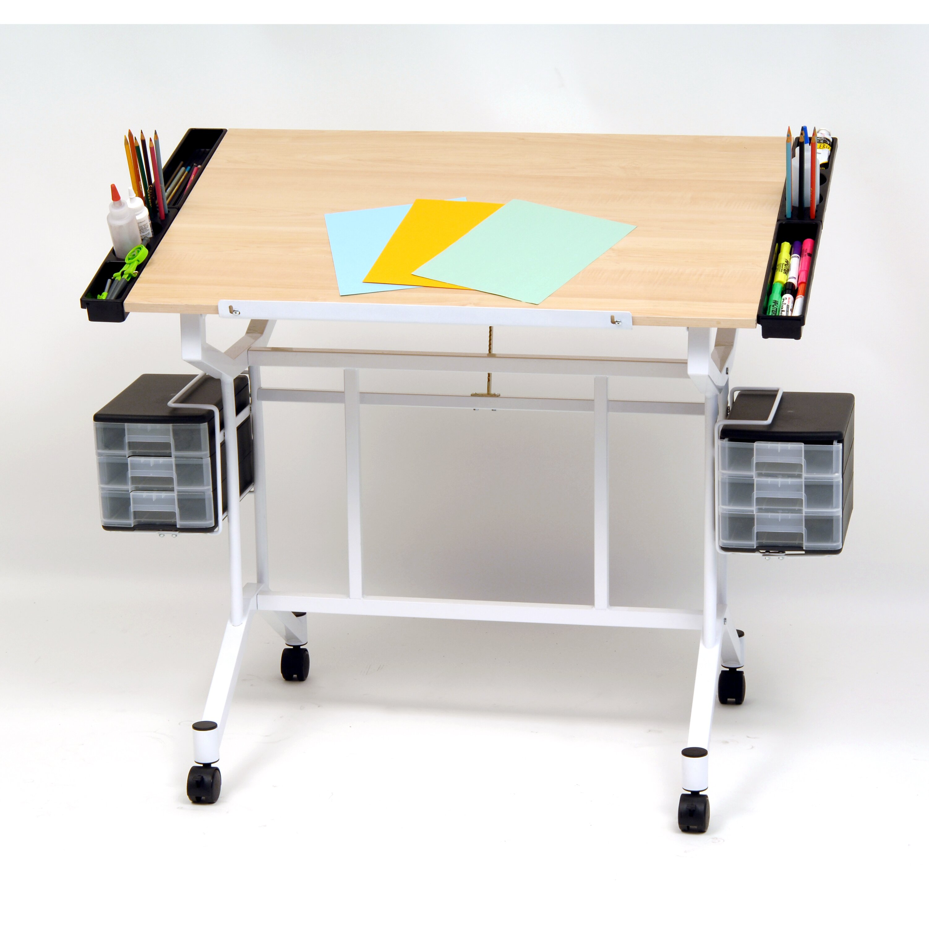 Studio designs pro craft station wood drafting table for Studio designs craft station
