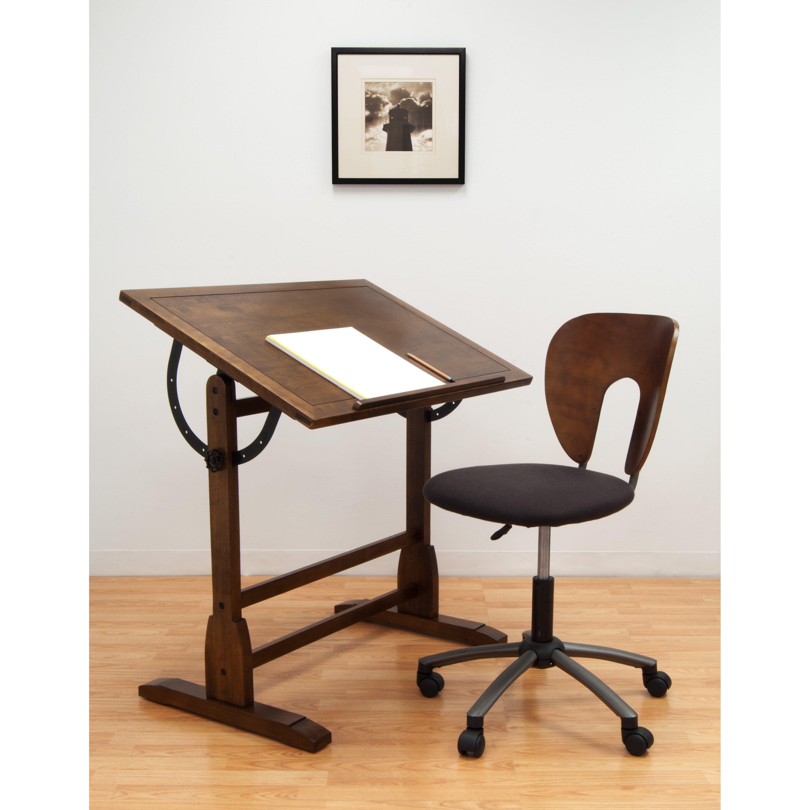 Studio Designs Vintage Wood Drafting Table & Reviews   Wayfair