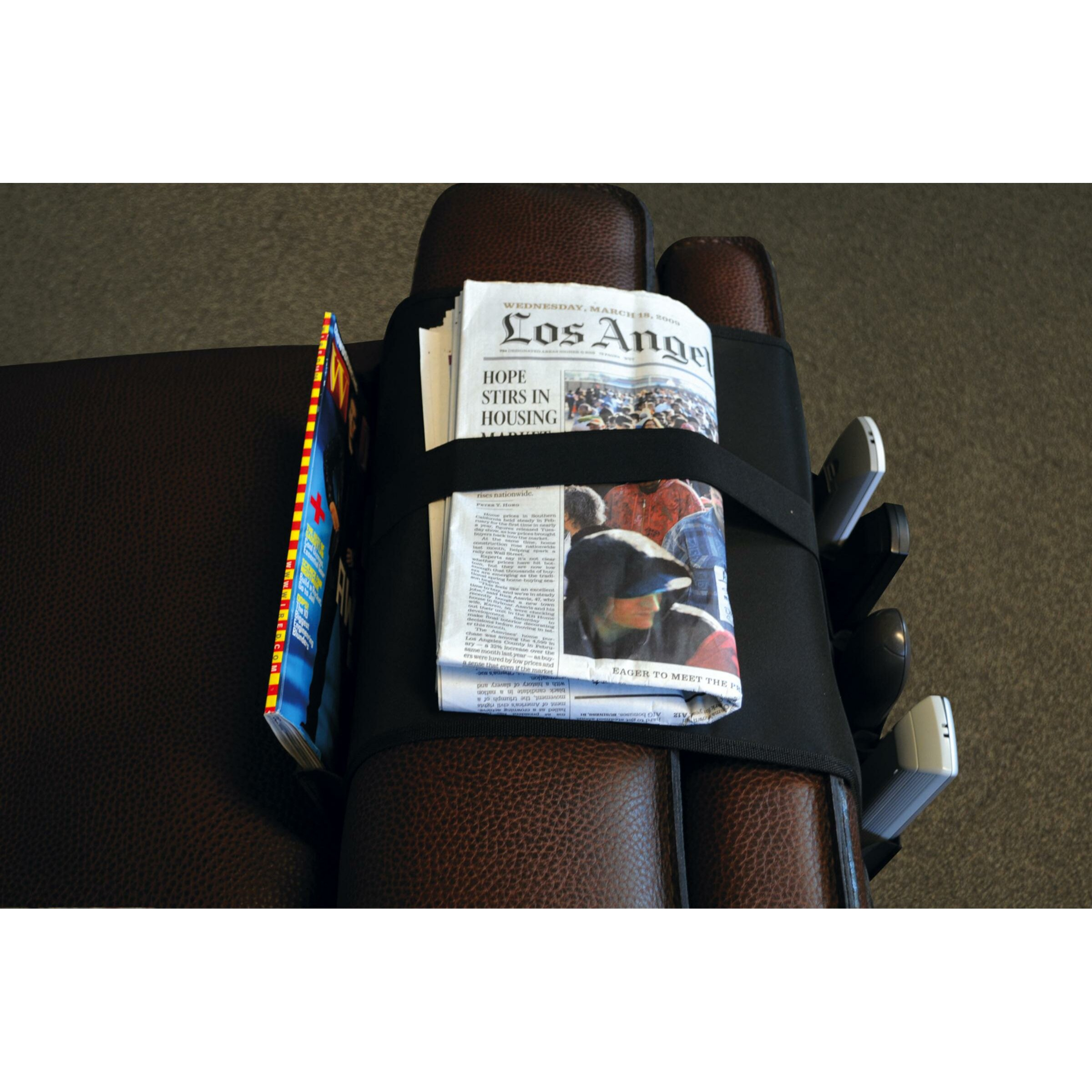 Atlantic Over The Arm Remote Caddy in Black & Reviews ...