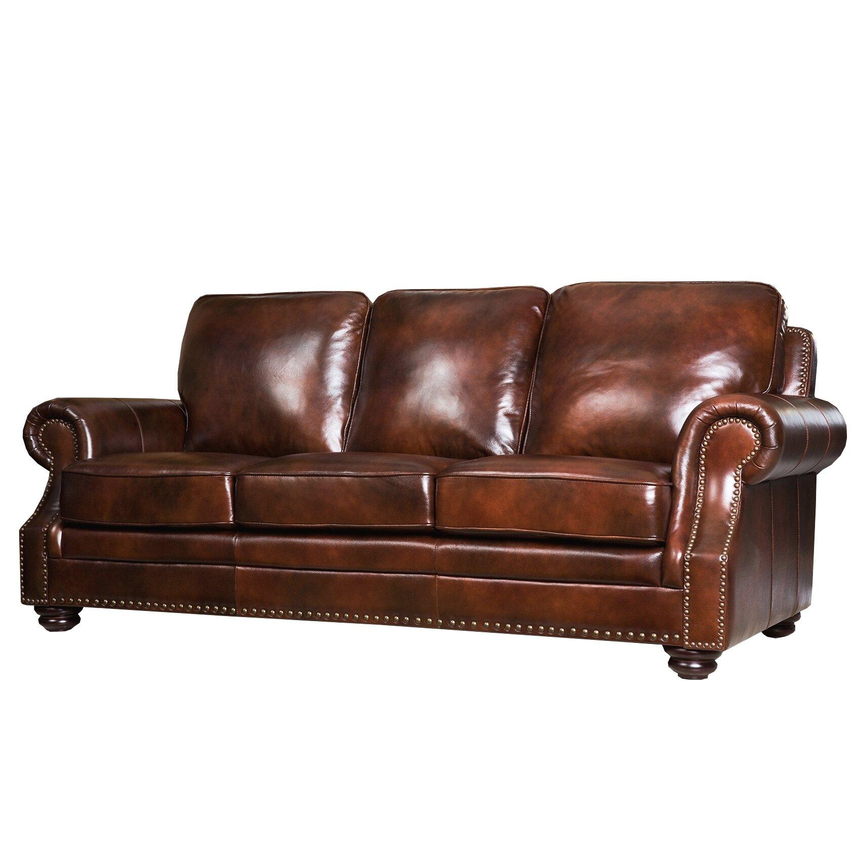 Reviews For Leather Sofas: Abbyson Living Karington Leather Sofa & Reviews