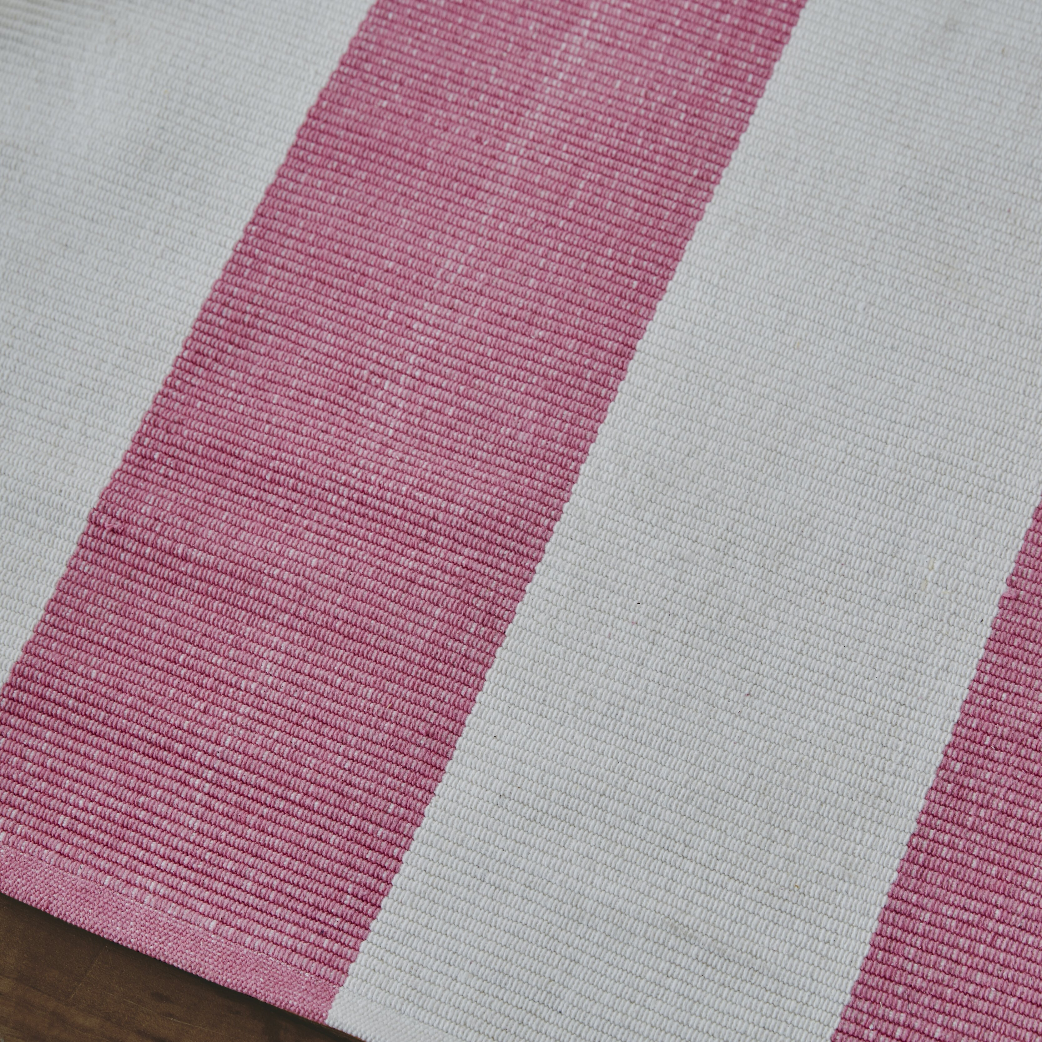Dash And Albert Rugs Woven Pink Yacht Stripe Area Rug