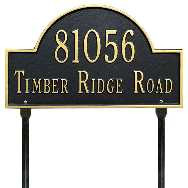 Address Signs Outdoor Solar Led Address Plaque Sign New