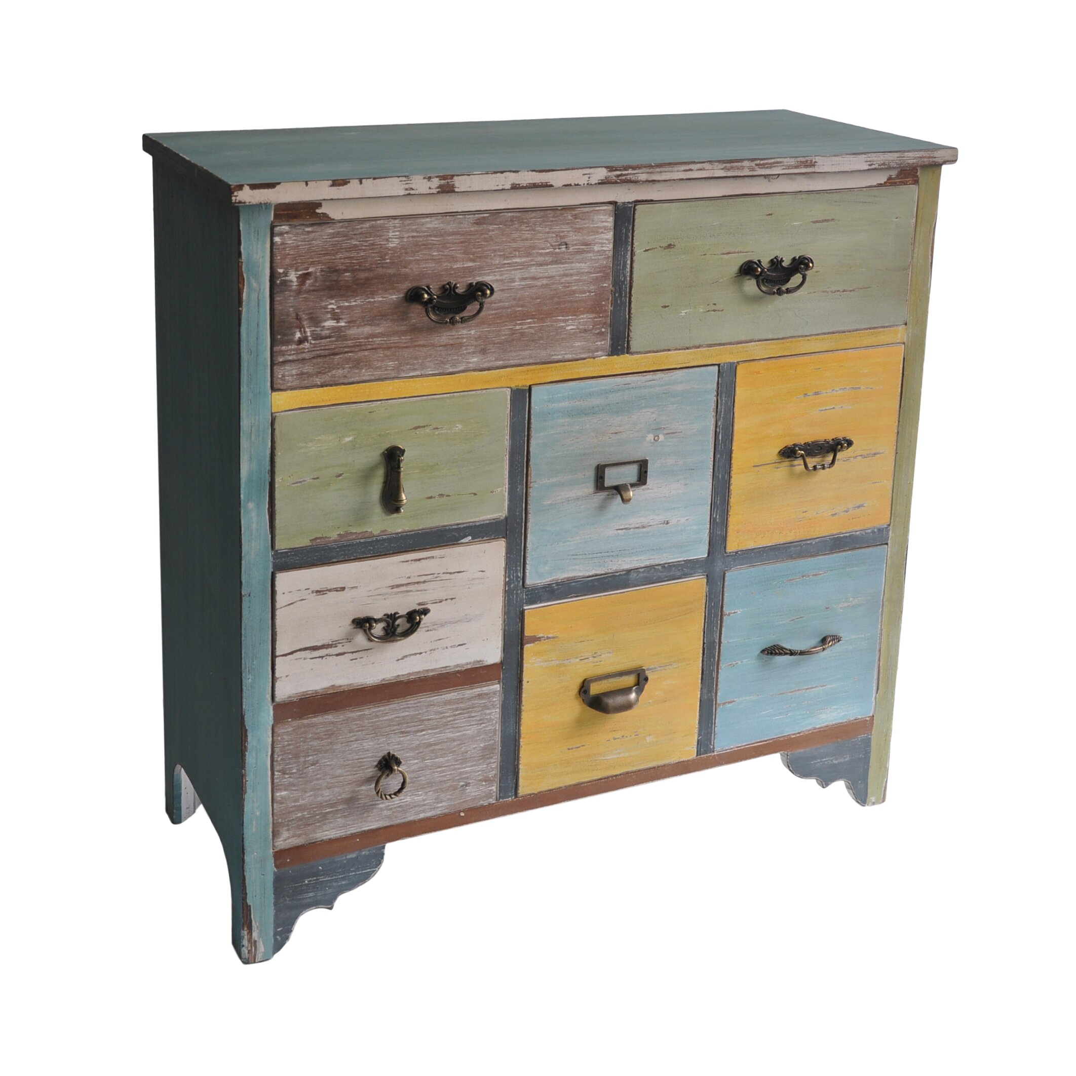 Marvelous photograph of Cheungs 9 Drawer Wooden Chest & Reviews Wayfair with #9A7531 color and 2124x2124 pixels