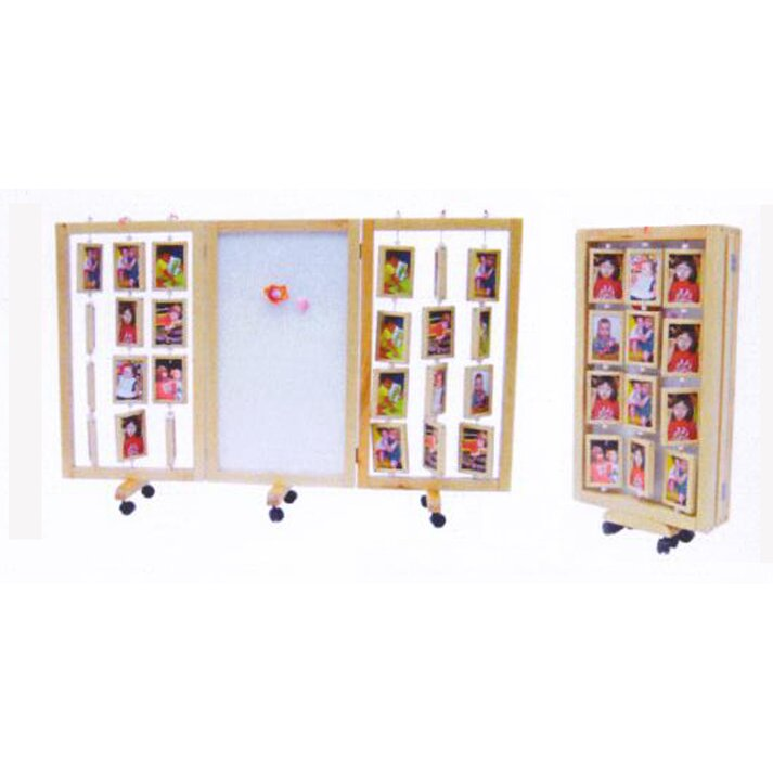 A Child Supply 38 X 19 Multi Functional Photo Display 3 Panel Room Divider Reviews Wayfair