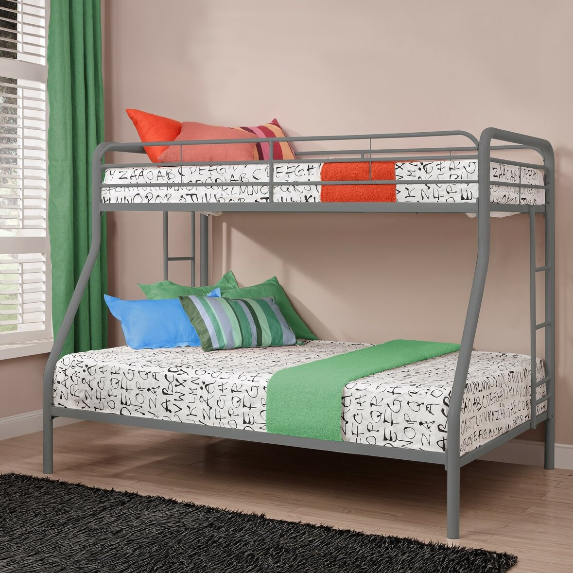 dhp twin over full bunk bed reviews wayfair. Black Bedroom Furniture Sets. Home Design Ideas