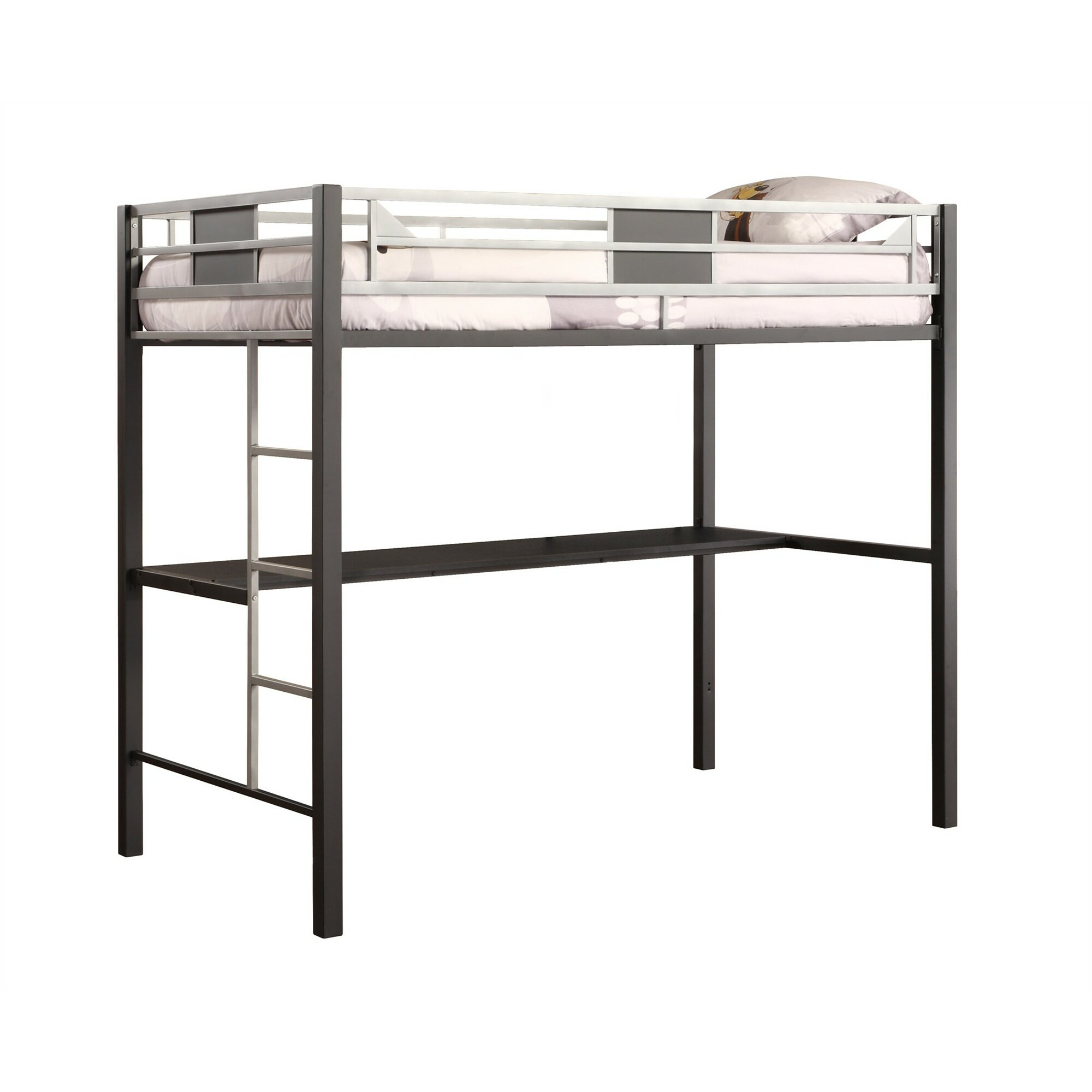 Dhp Silver Screen Twin Metal Loft Bed