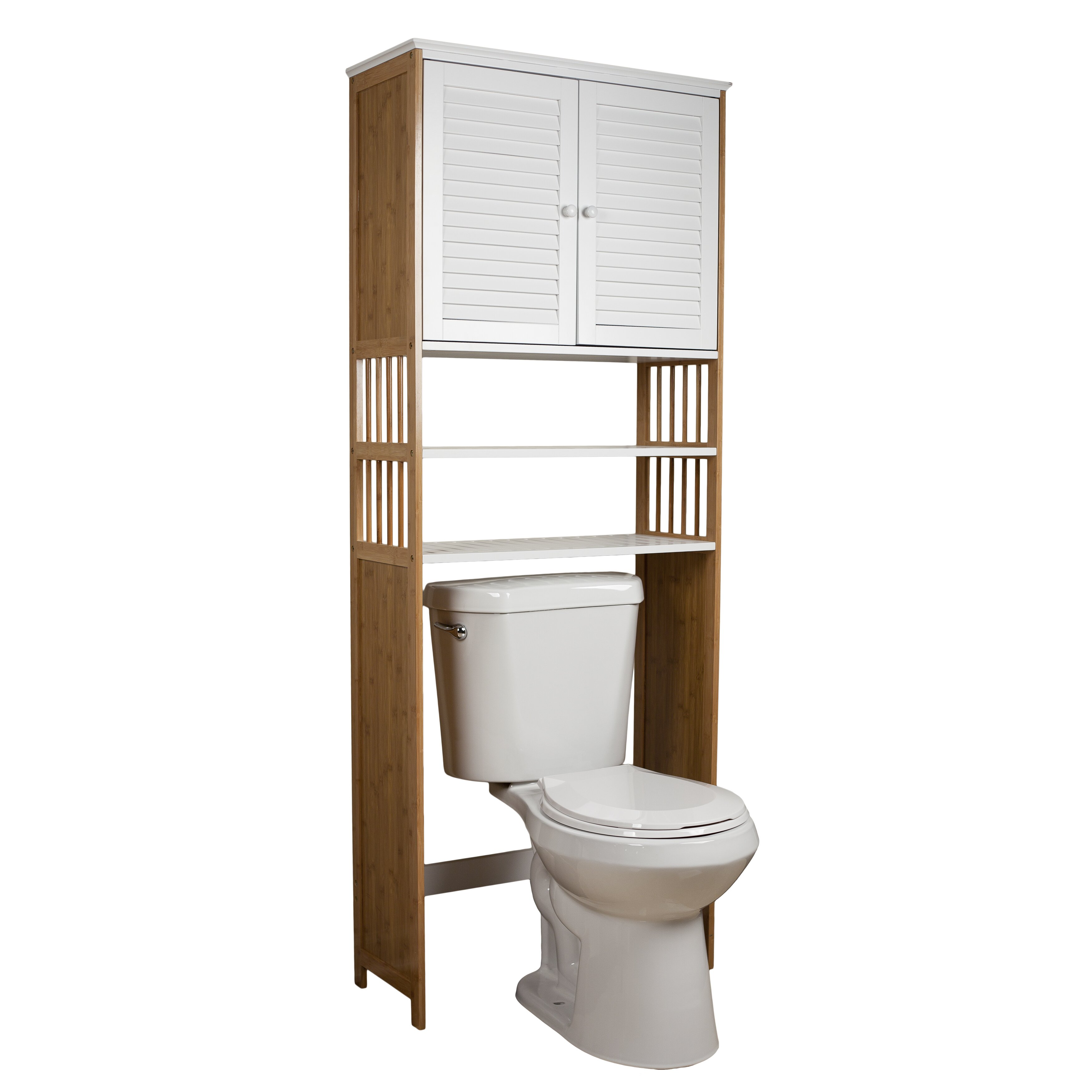 danyab bamboo bathroom 27 x 71 over the toilet cabinet revi