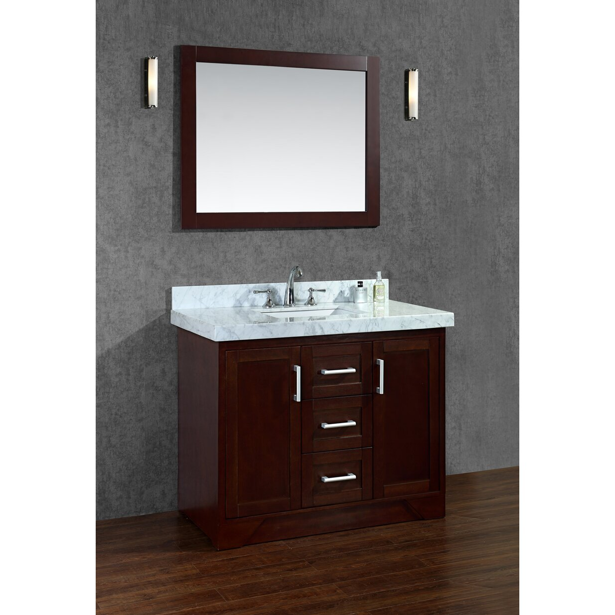 Ariel Bath Ashbury 42 Single Bathroom Vanity Set With Mirror Reviews Wayfair