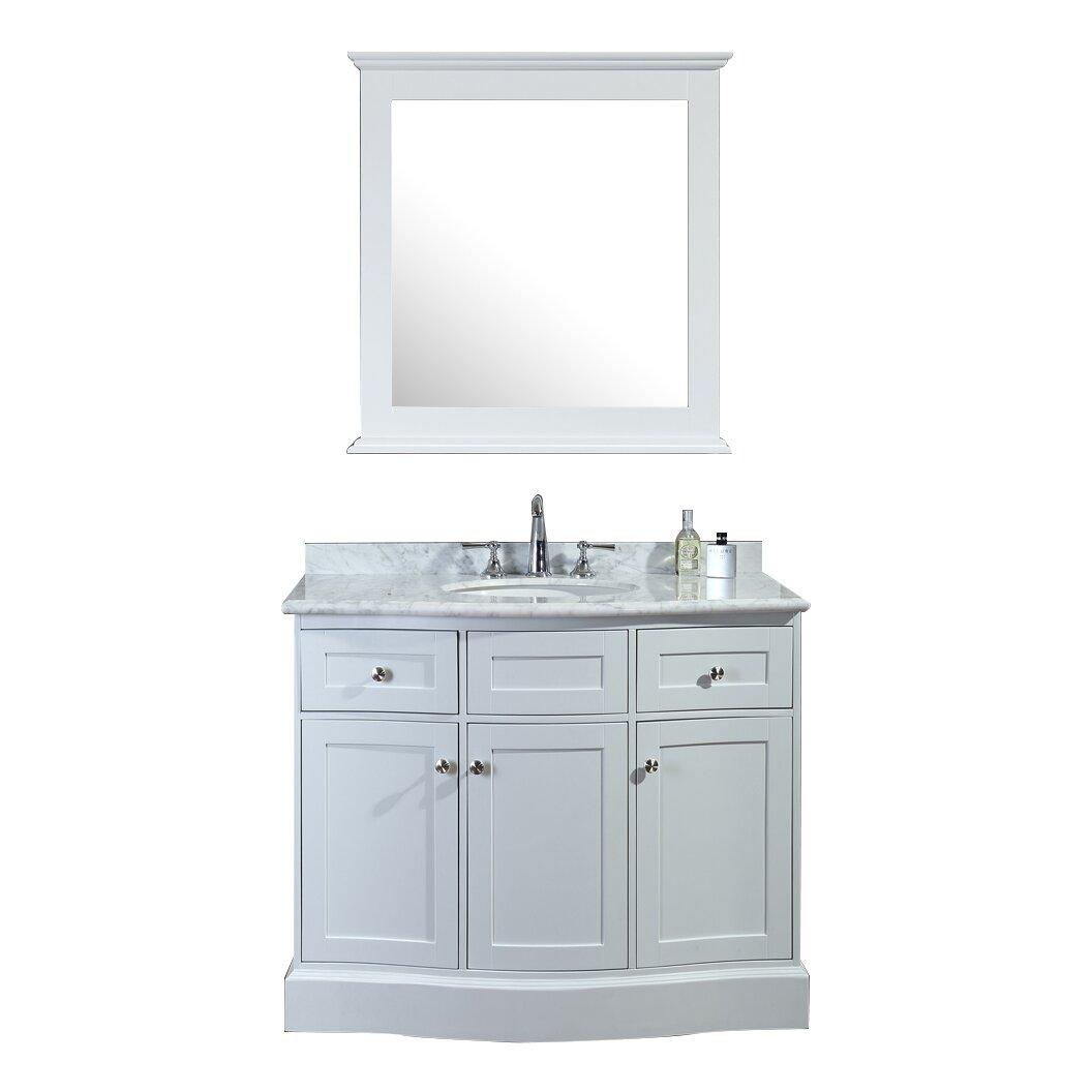 "Ariel Bath Montauk 42"" Single Bathroom Vanity Set with"