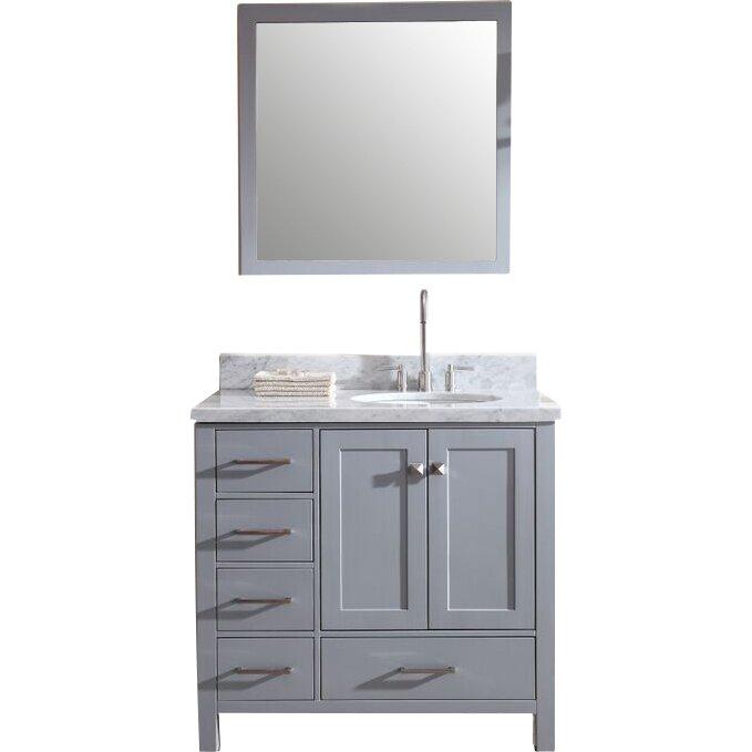 "Bathroom Vanity Light Offset: Ariel Bath Cambridge 37"" Single Bathroom Vanity Set With"