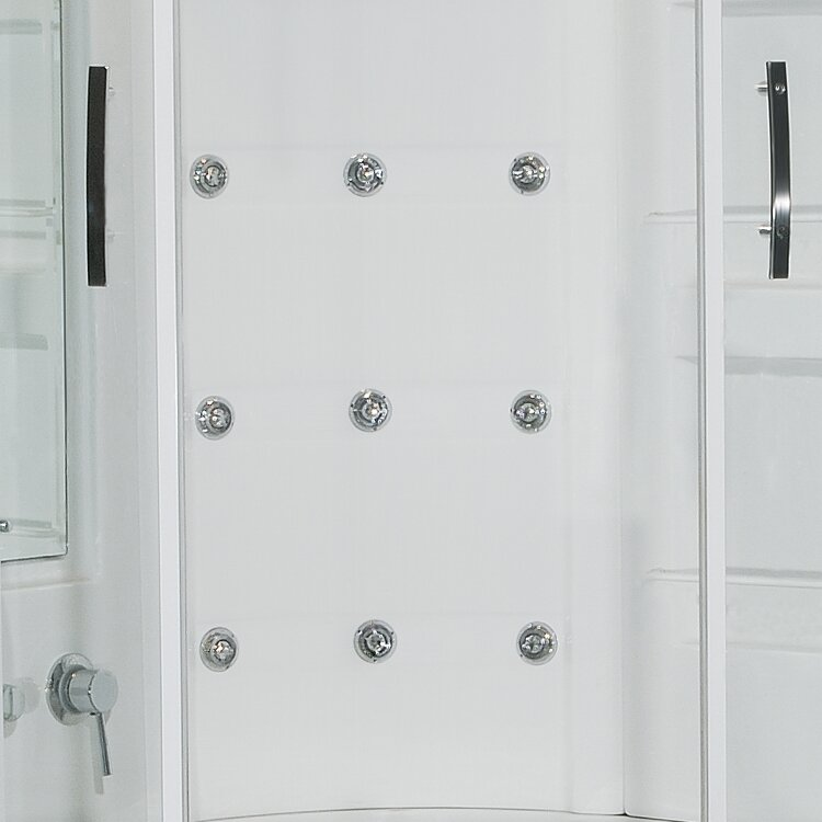 steam shower with whirlpool bathtub wayfair