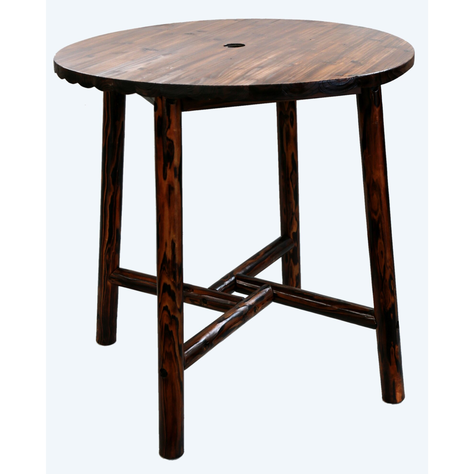 LeighCountry Char-Log Round Bar Table II & Reviews  Wayfair