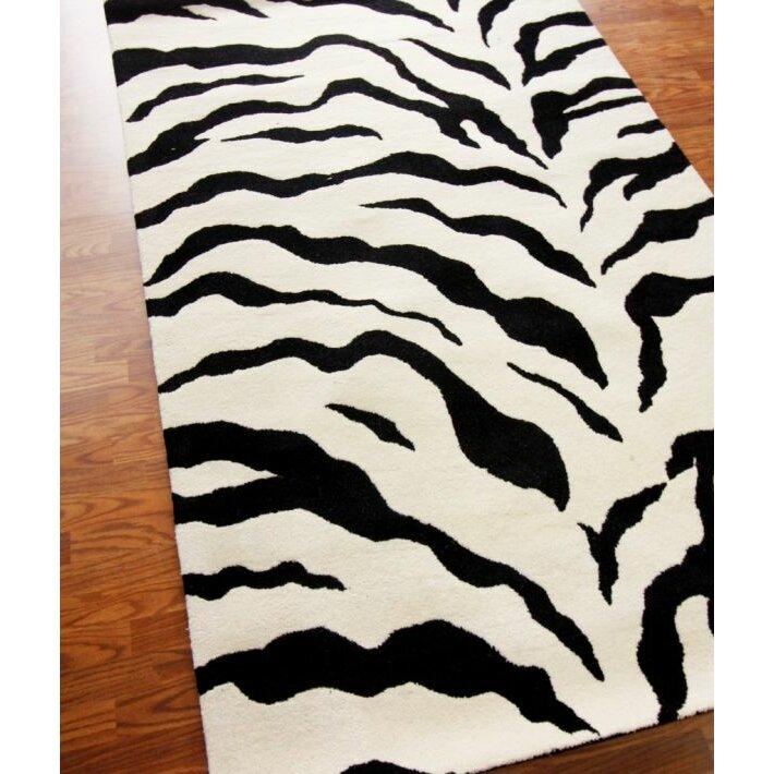 Zebra Rug Wayfair: NuLOOM Earth Zebra Print Black & Ivory Area Rug & Reviews