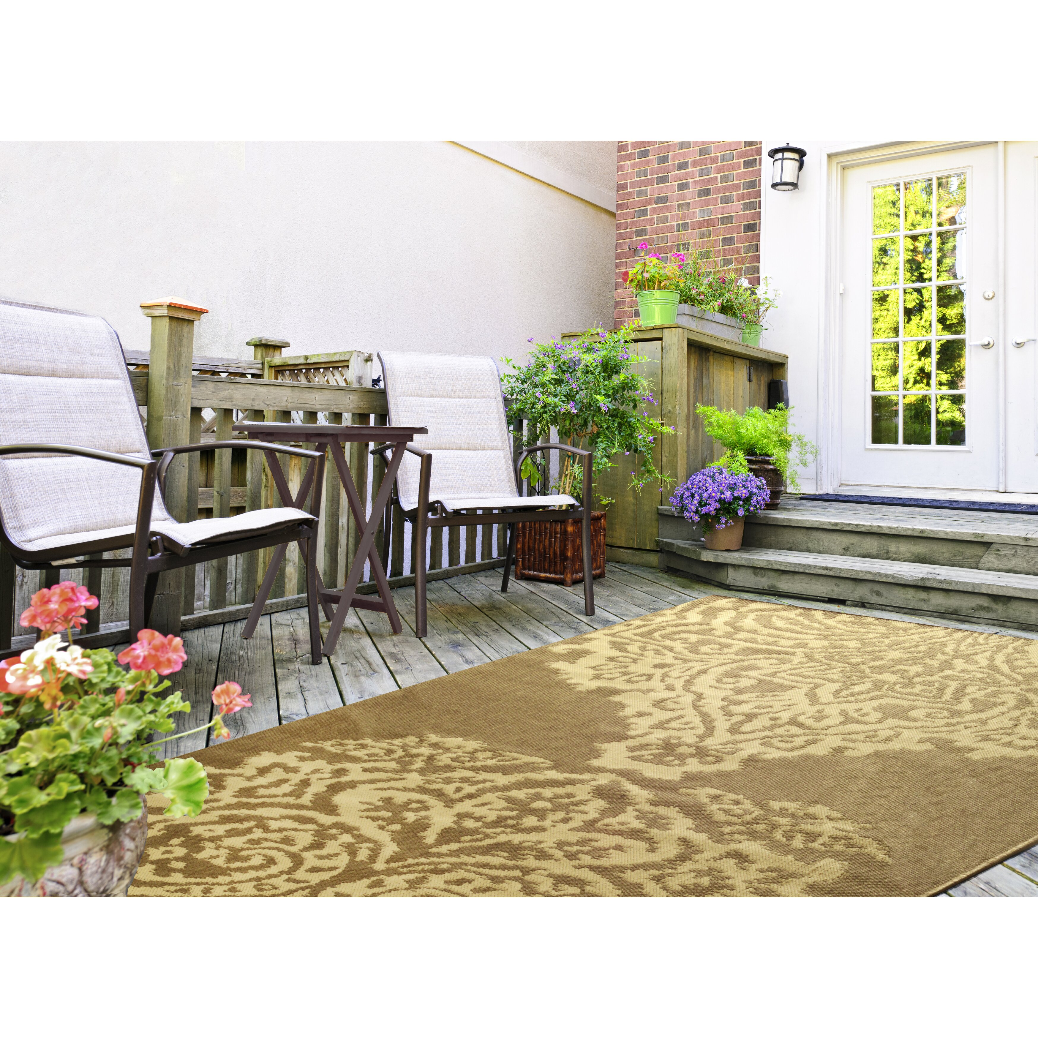Verna Taupe Outdoor Area Rug