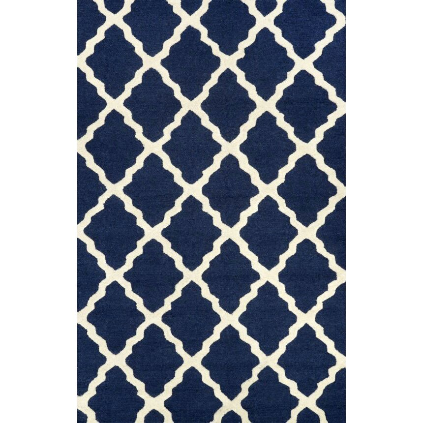 NuLOOM Lillian Moroccan Trellis Navy Area Rug & Reviews