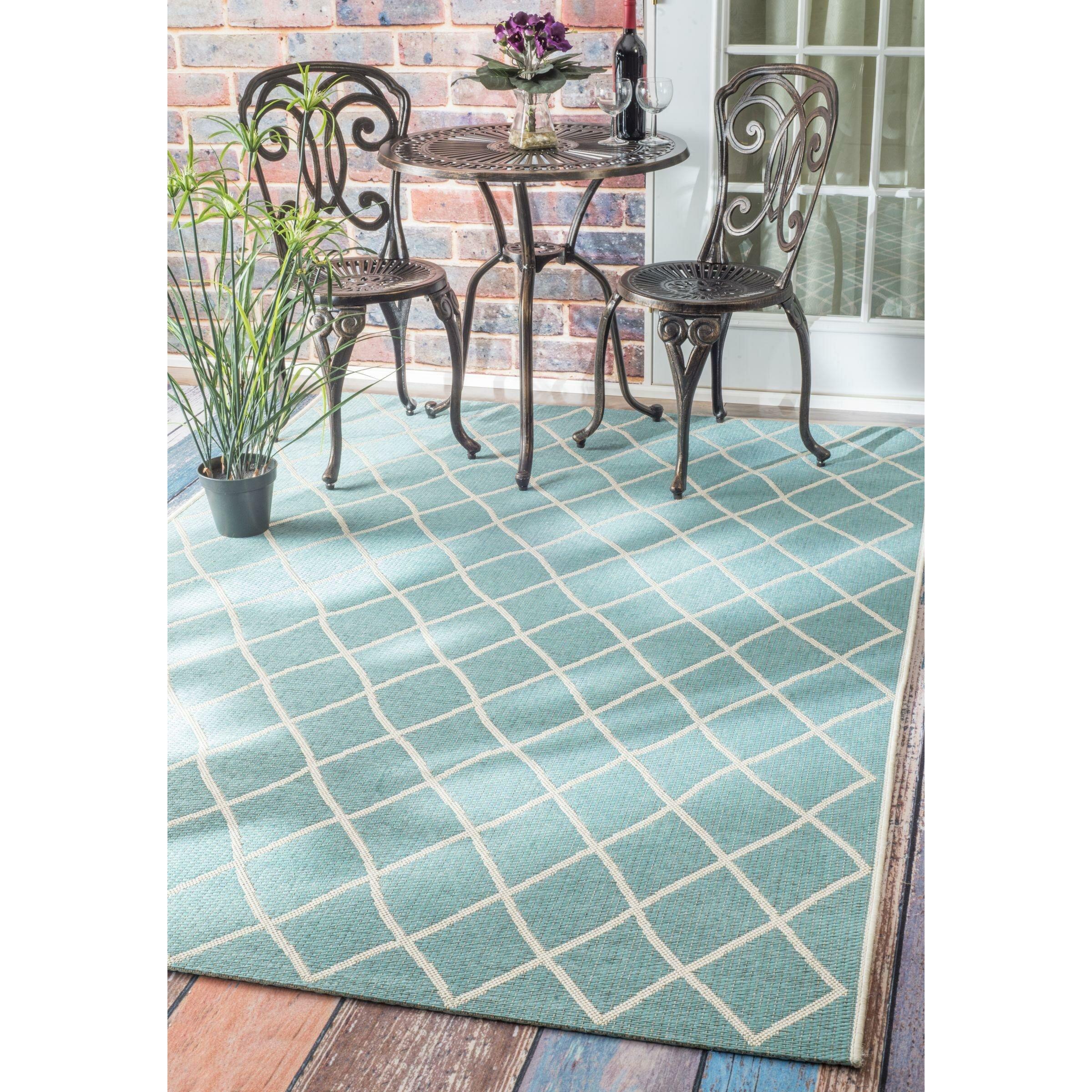 nuLOOM Berube Turquoise Indoor Outdoor Area Rug & Reviews
