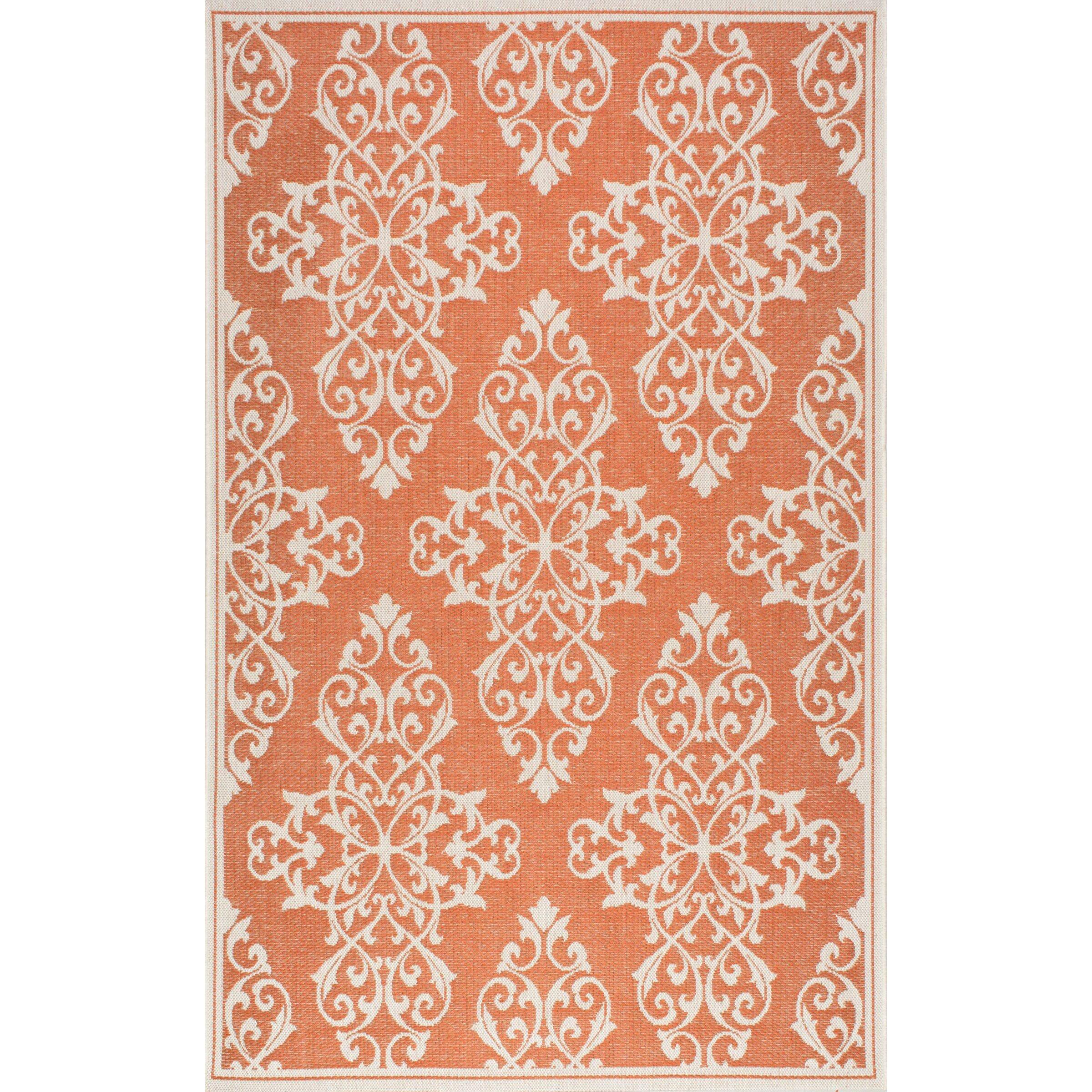 nuLOOM Bivins Orange Indoor Outdoor Area Rug & Reviews