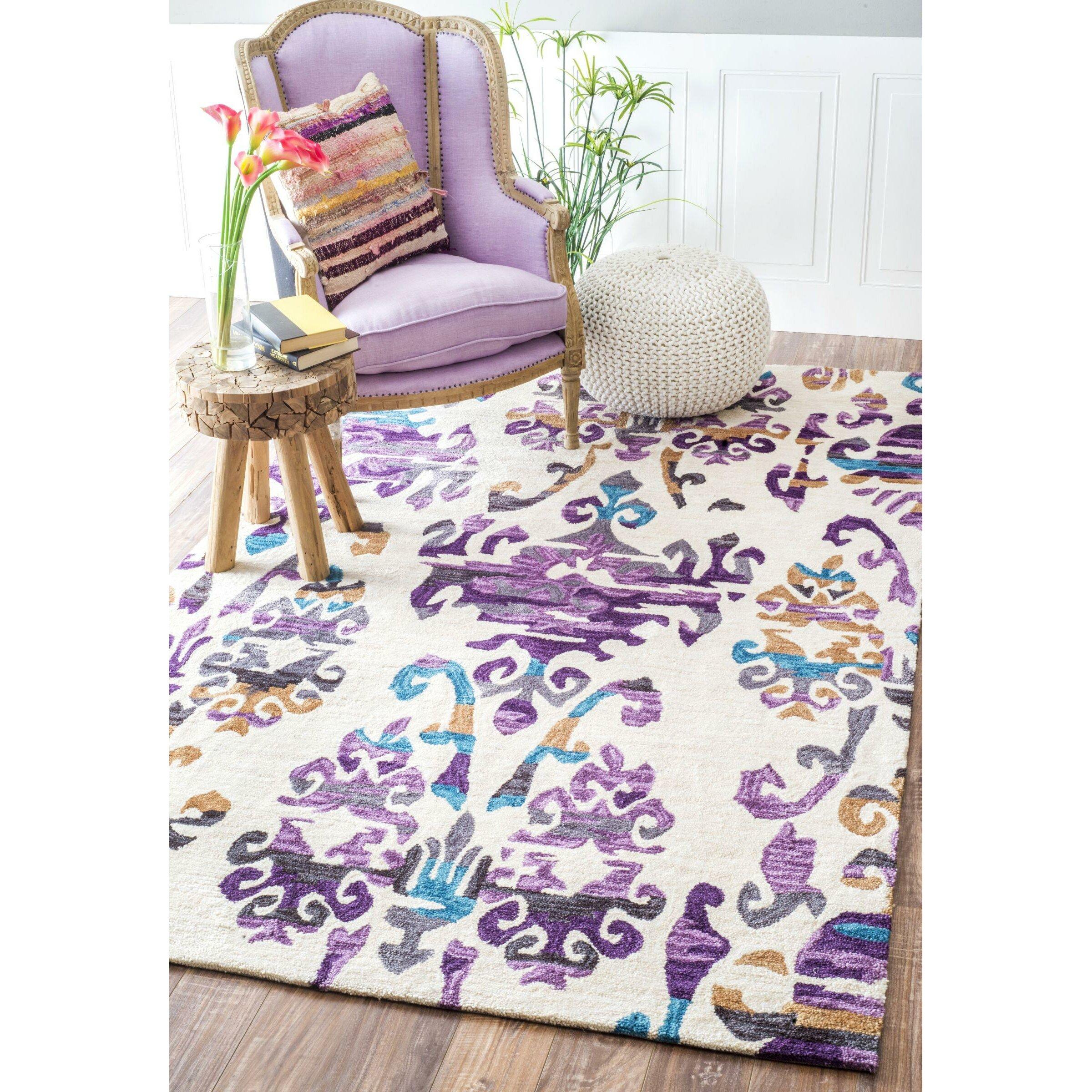 purple damask rug for - photo #23