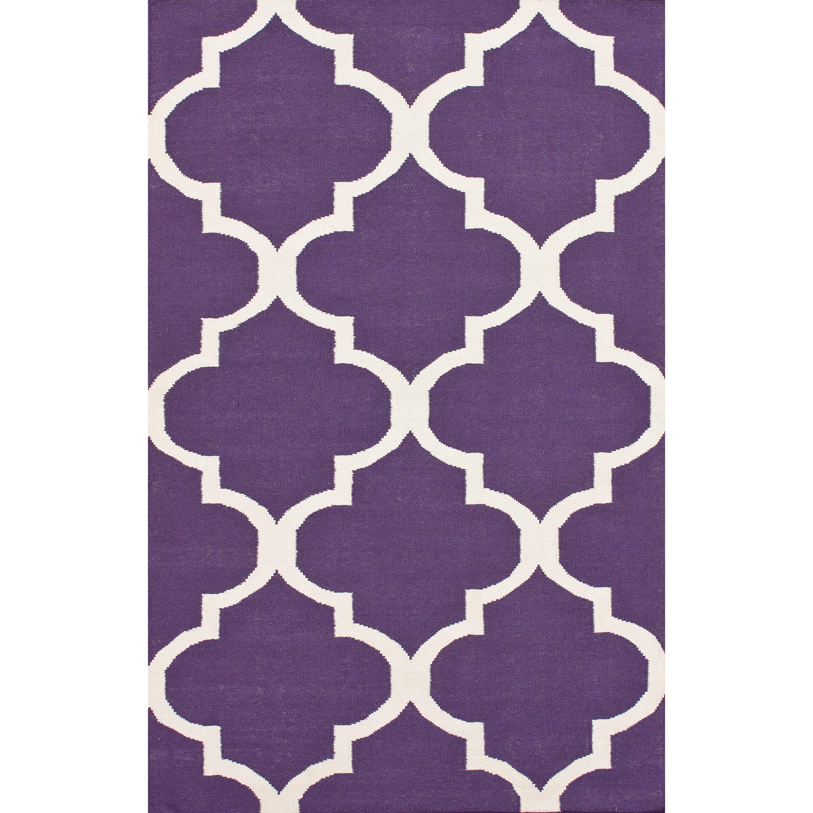 Marbella Moroccan Trellis Purple Kilim Rug