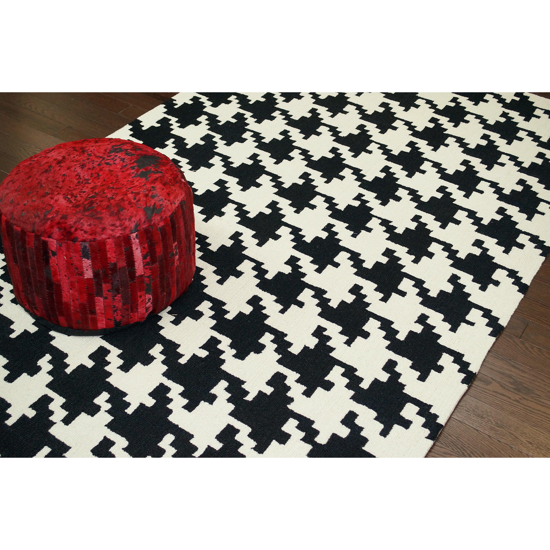 Nuloom Black And White Rug: NuLOOM Trellis Black Houndstooth Area Rug & Reviews