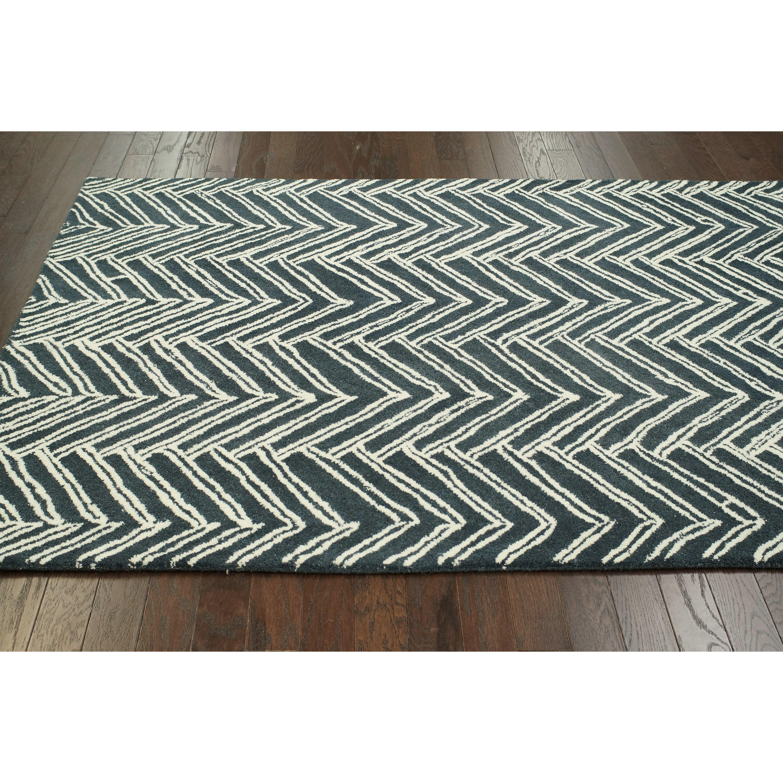 Chevron Denim Wool Rug: NuLOOM Moderna Denim Vixen Chevron Area Rug & Reviews