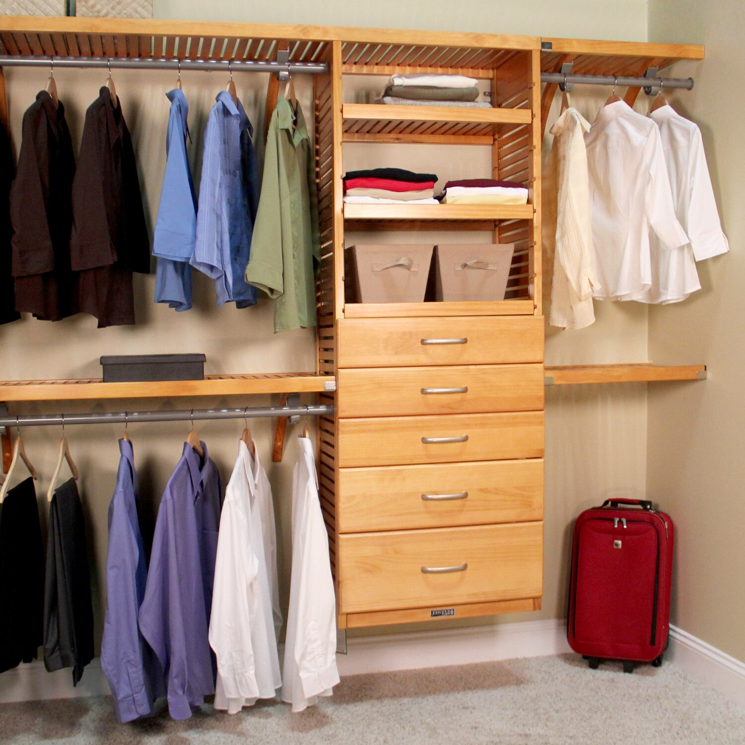 John Louis Home 16 Quot Deep Deluxe Organizer With 5 Drawers