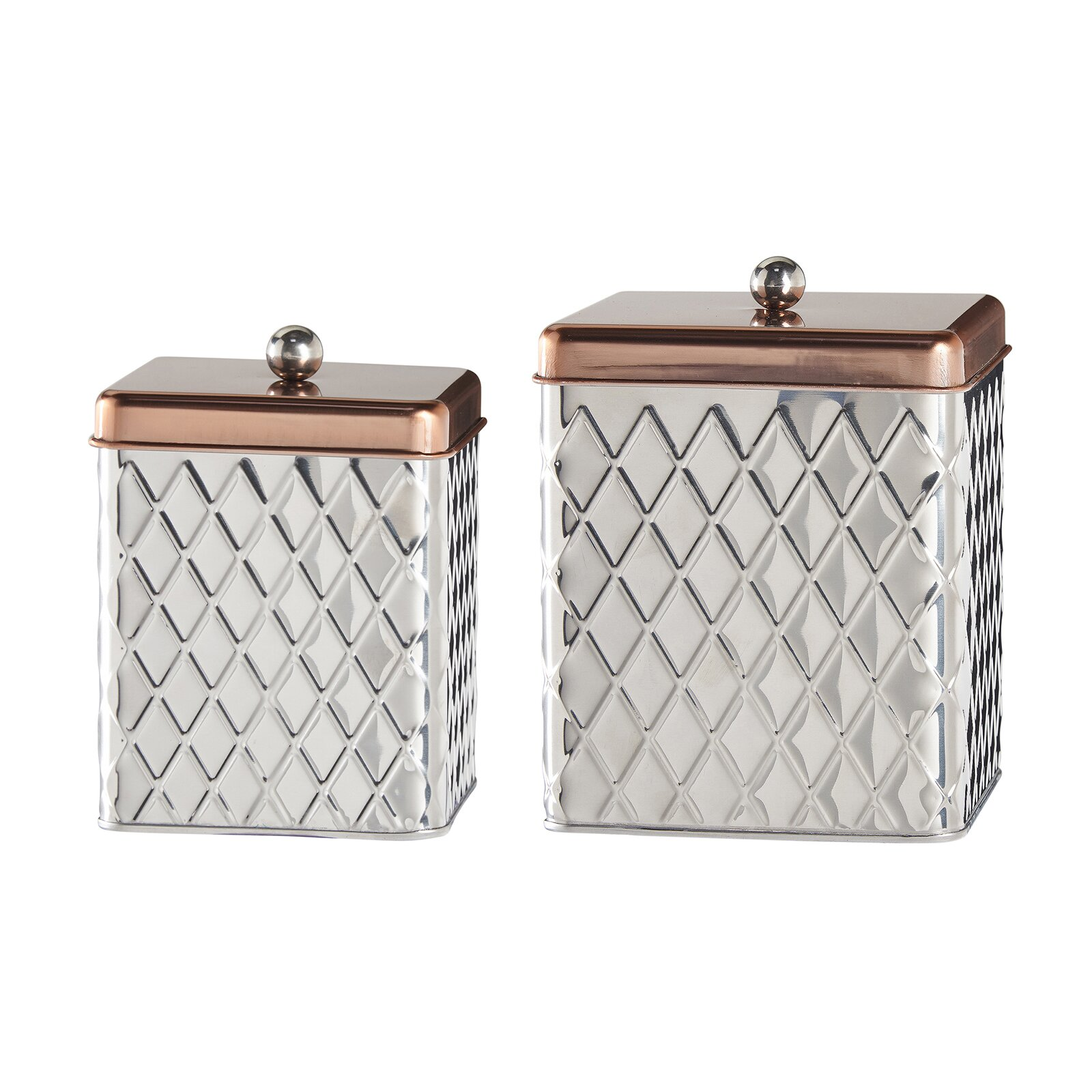 square kitchen canisters global amici 2 piece square diamond canister set reviews wayfair 1815