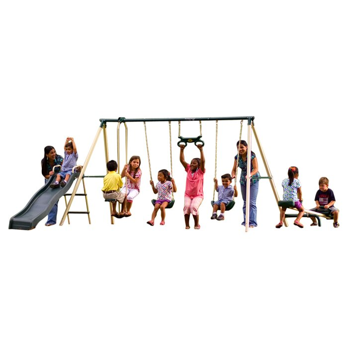 flexible flyer backyard fun swing set reviews wayfair