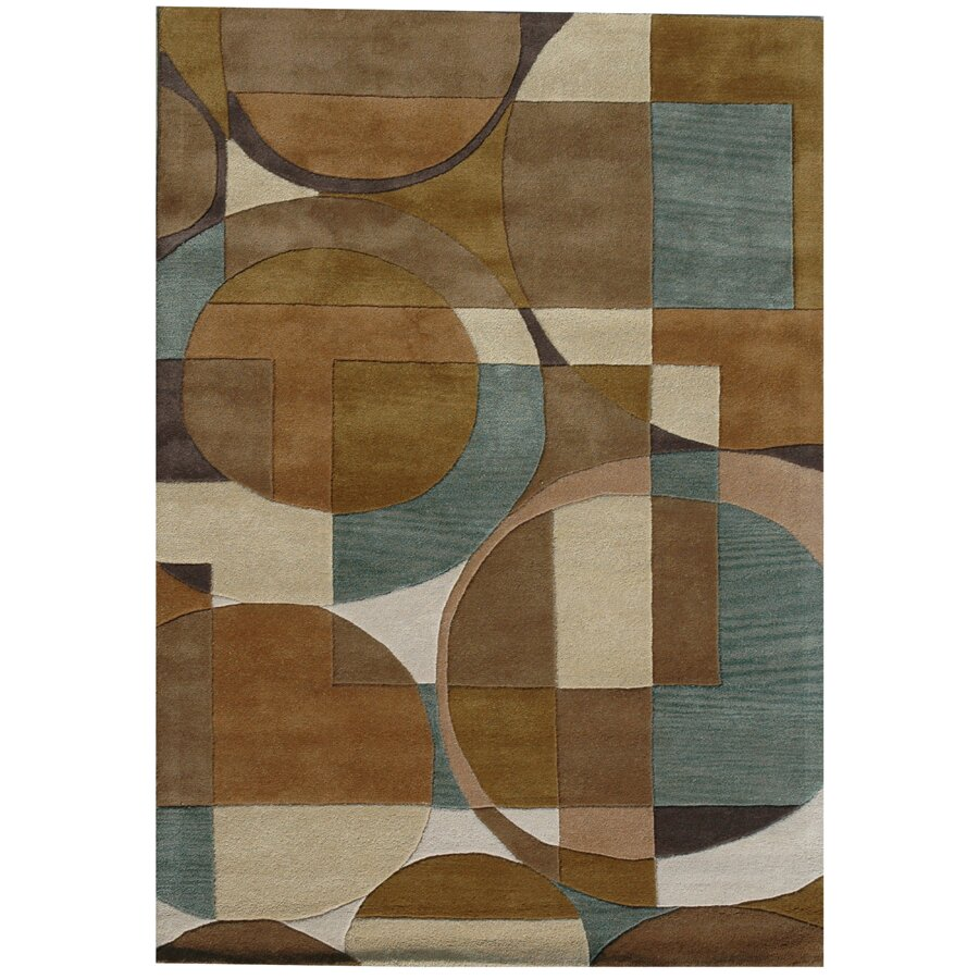 Acura Rugs Ashley Circle Brown Area Rug & Reviews