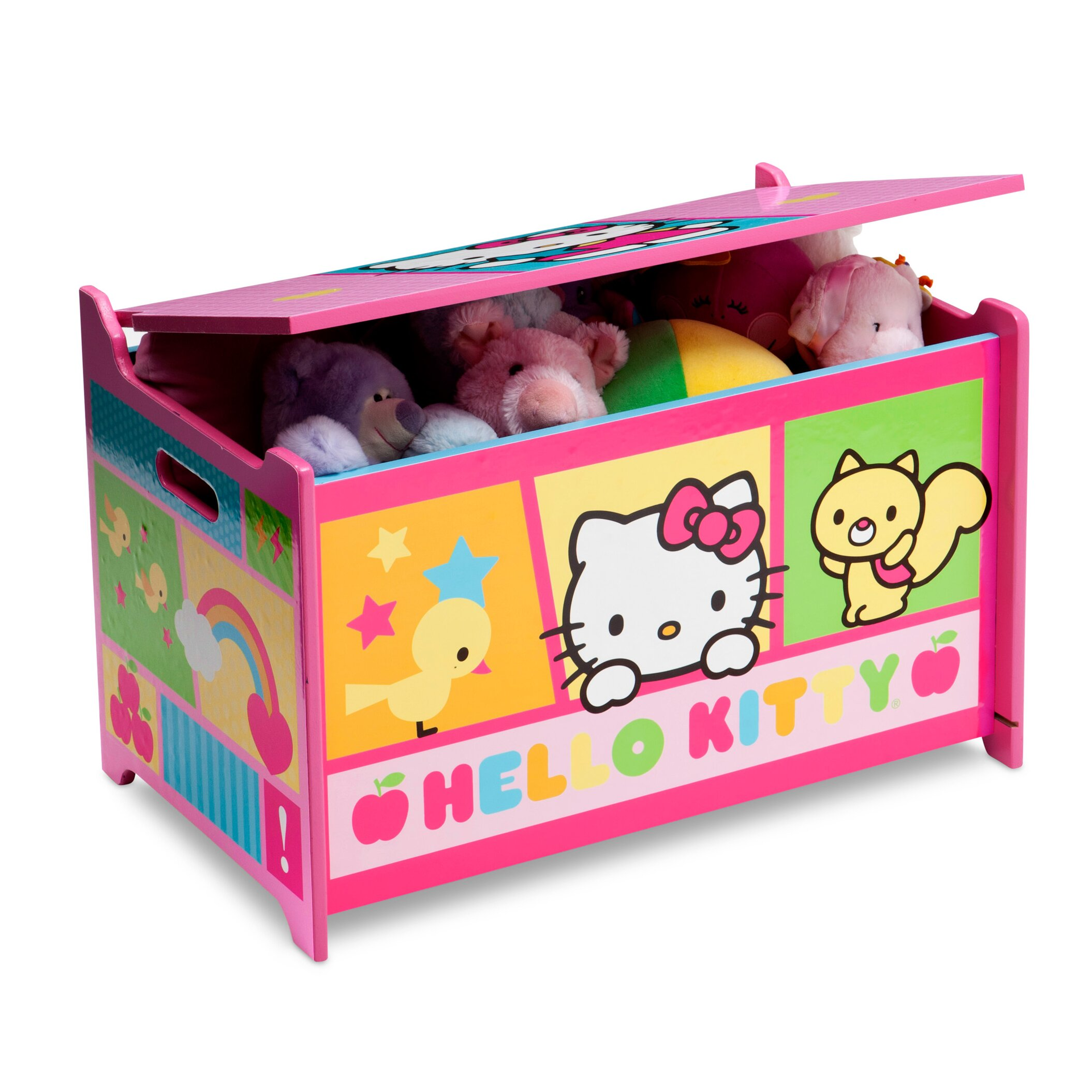 Hello Kitty Toy Bin : Delta children hello kitty toy box reviews wayfair