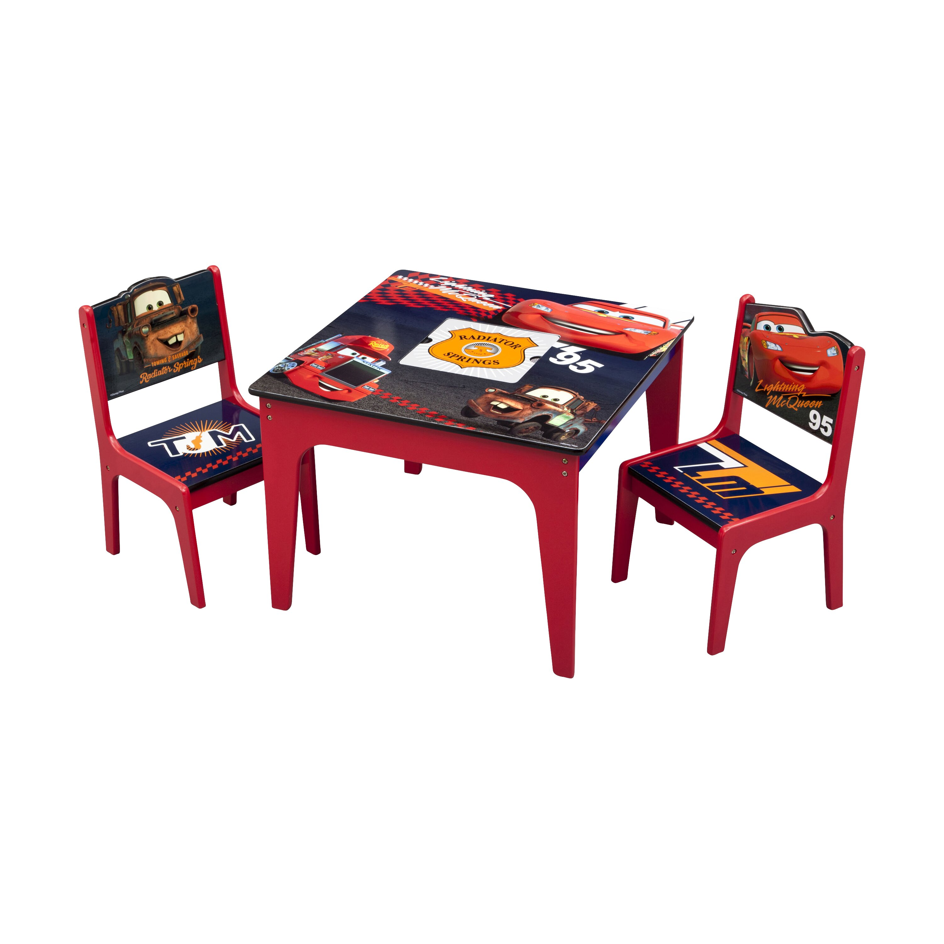Delta Children Cars Kids 3 Piece Table and Chair Set