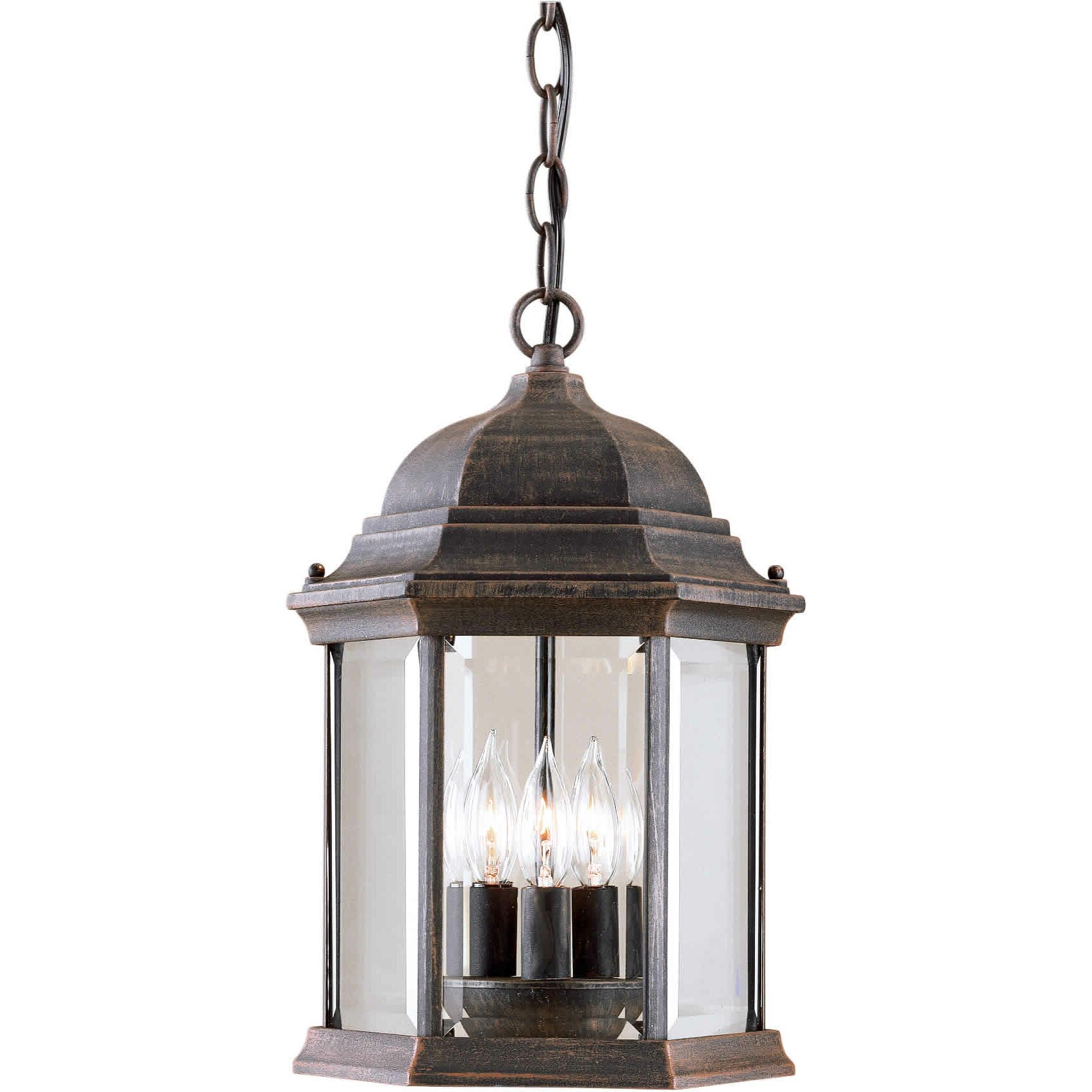 Forte Lighting 3 Light Outdoor Hanging Lantern & Reviews