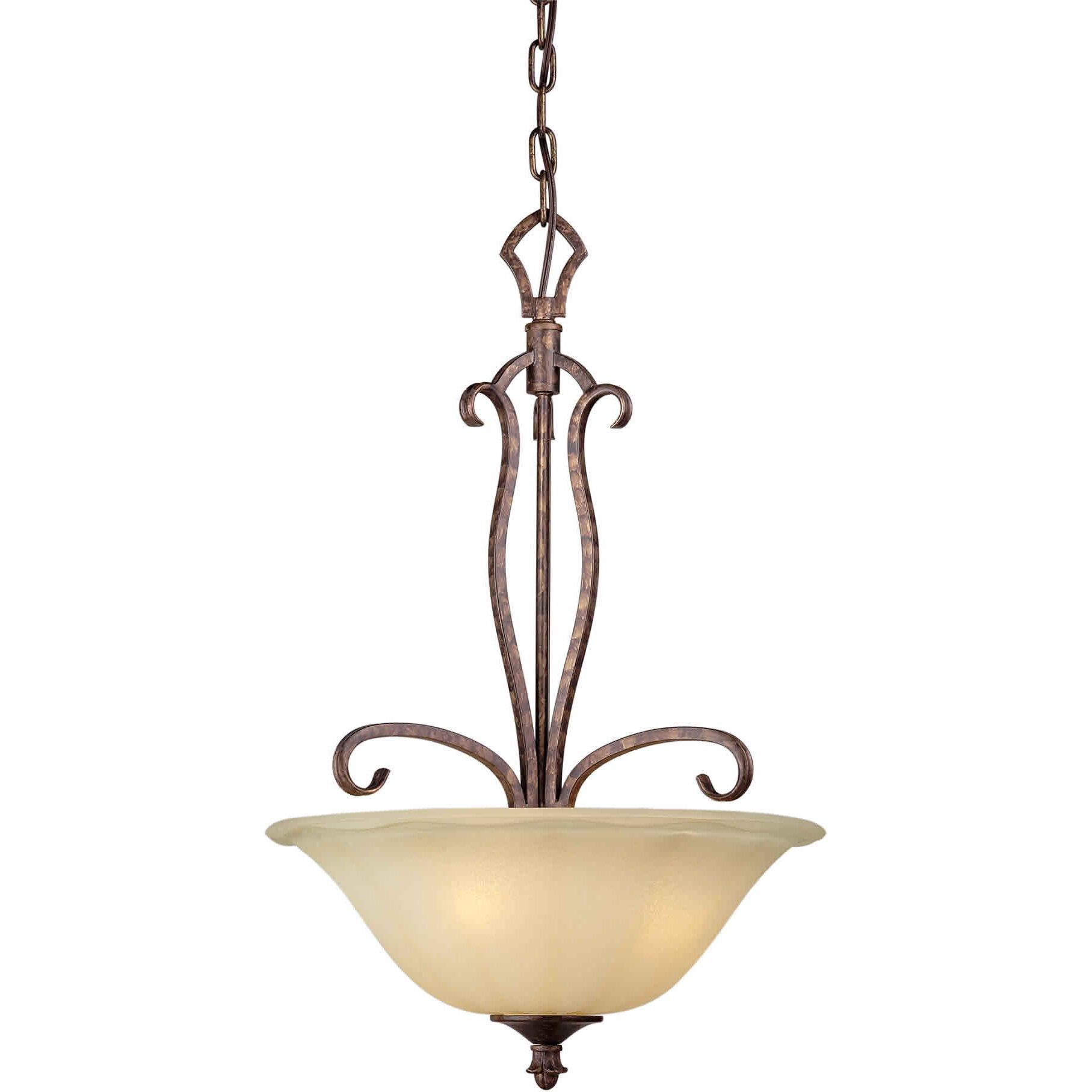 light bowl inverted pendant by forte lighting. Black Bedroom Furniture Sets. Home Design Ideas