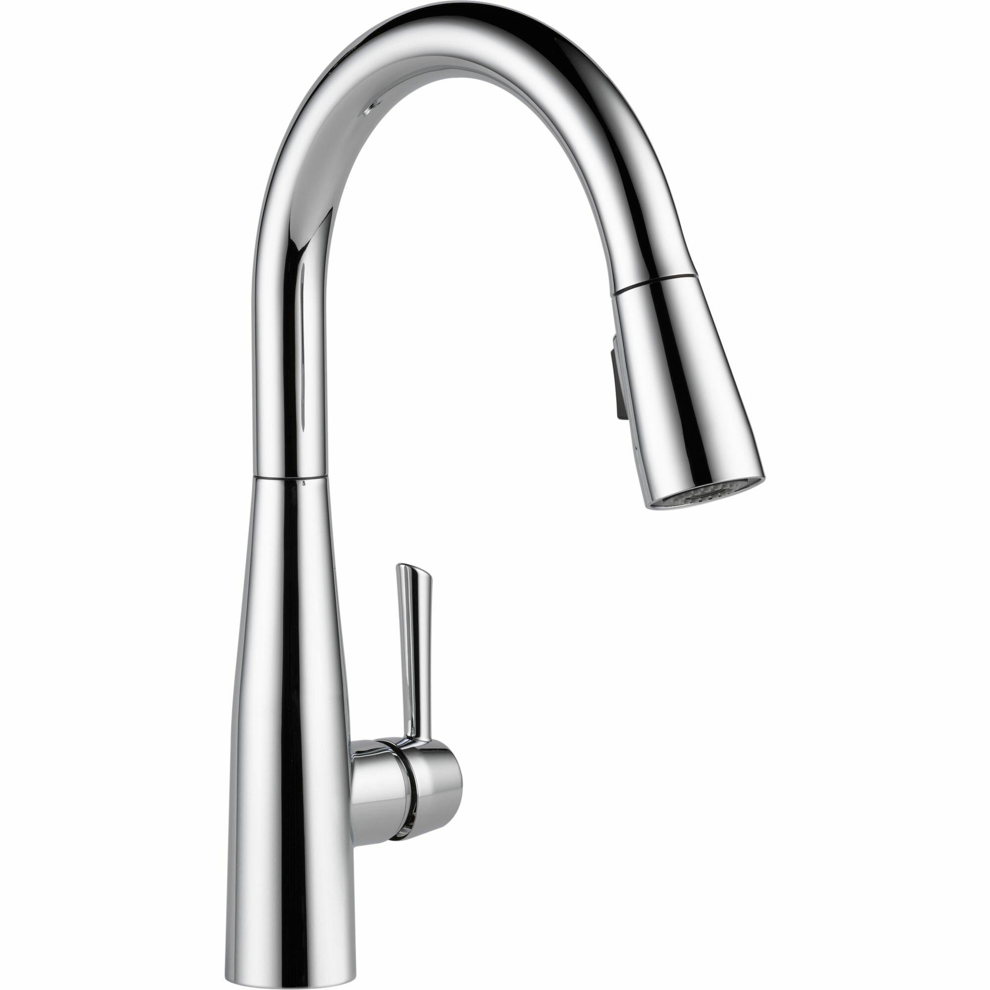 delta essa single handle pull down kitchen faucet