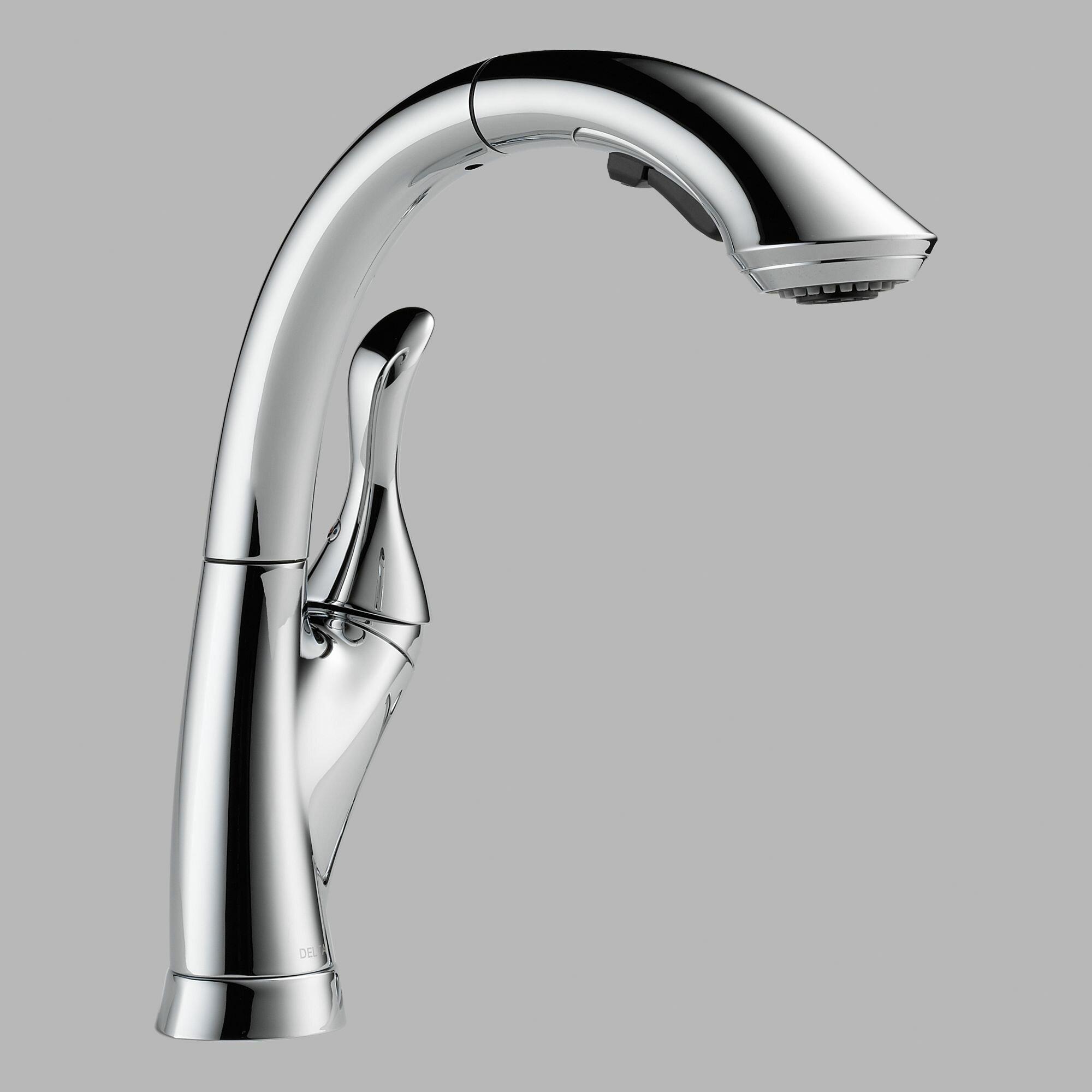 Linden single handle kitchen faucet