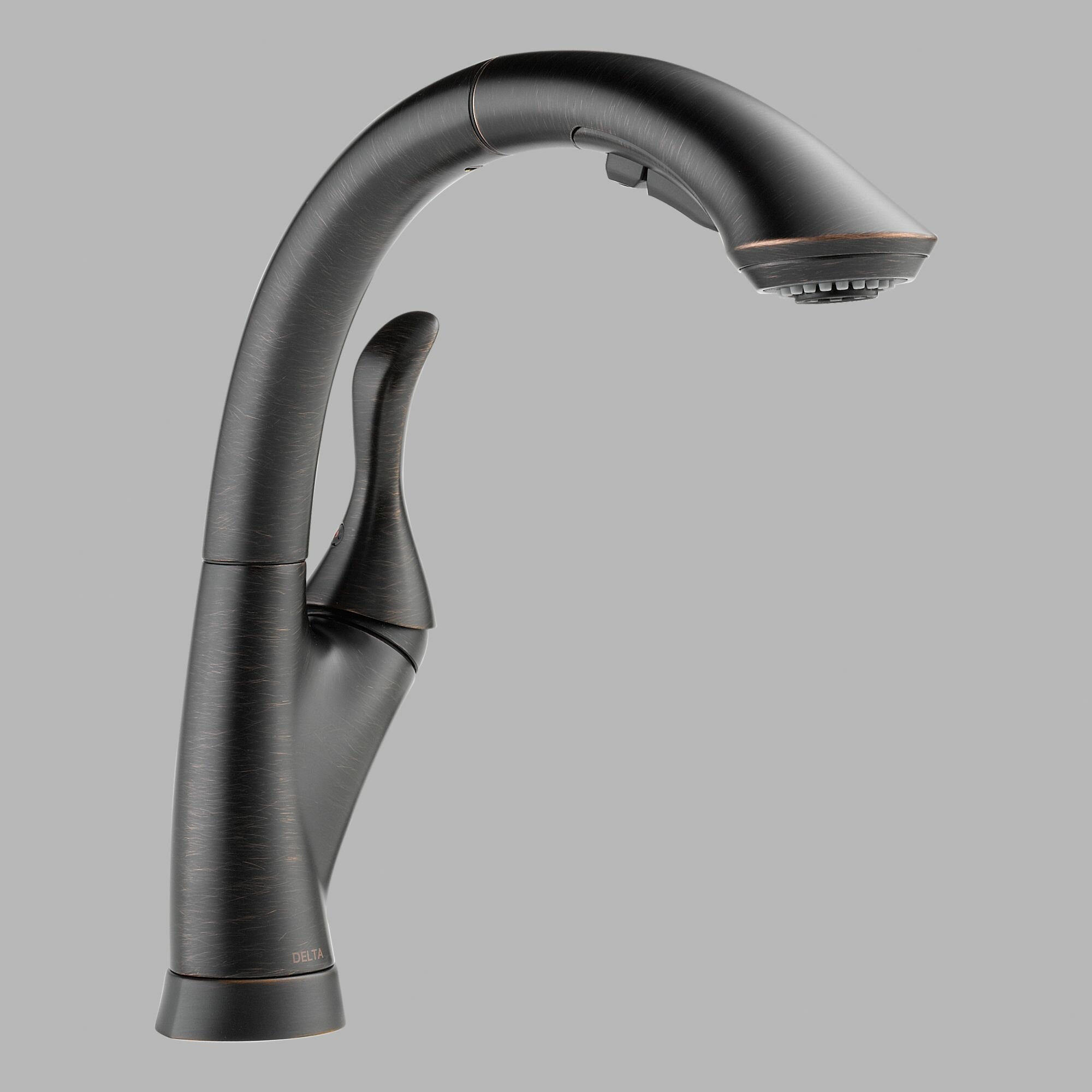 Delta linden single handle kitchen faucet