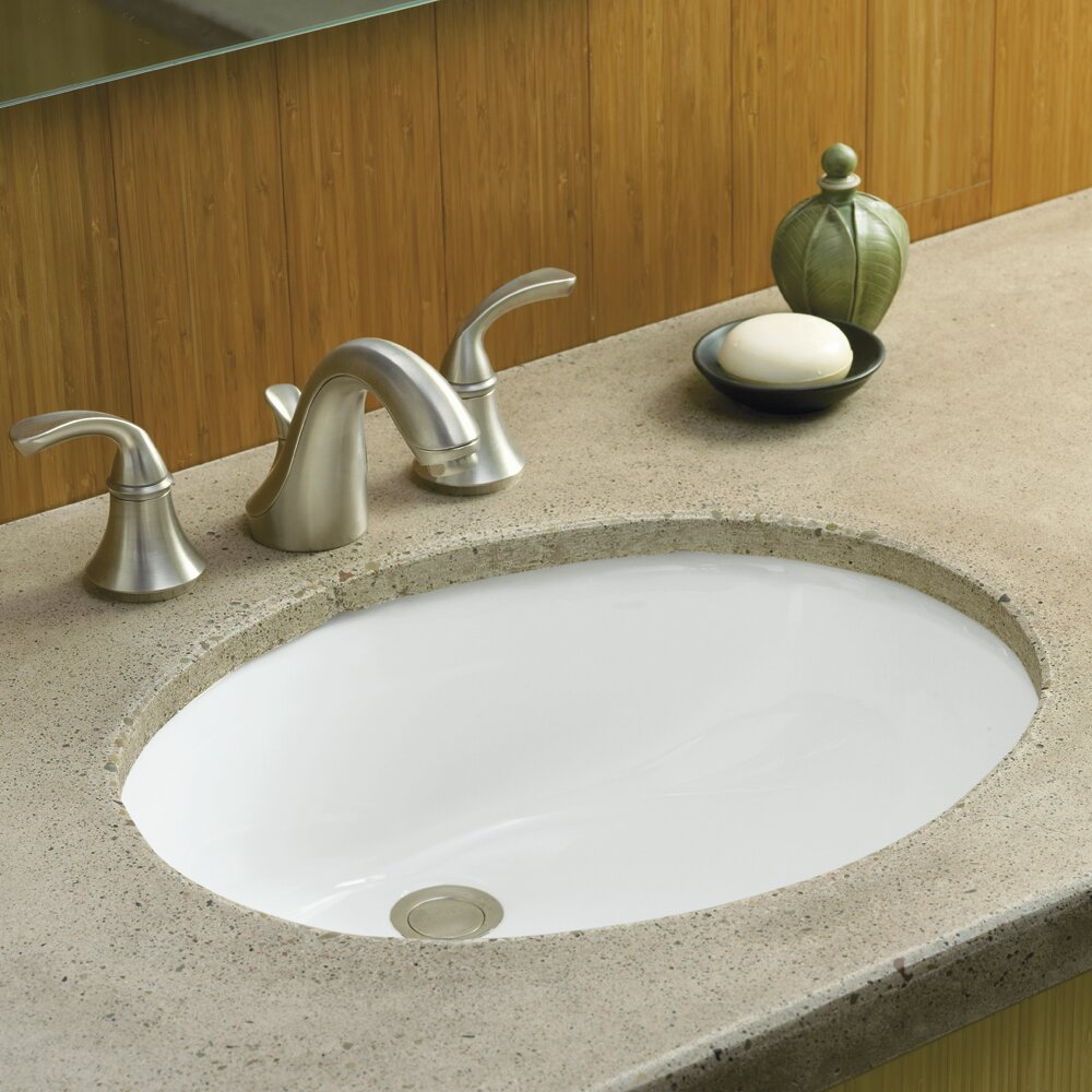 Undermount Bathroom Sink : Oval Undermount Bathroom Sink undermount sinks wayfair