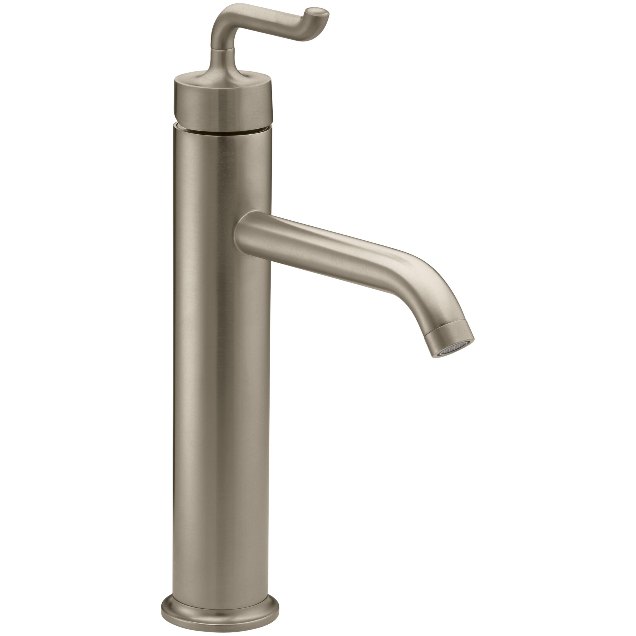 kohler purist tall single hole bathroom sink faucet with smile design
