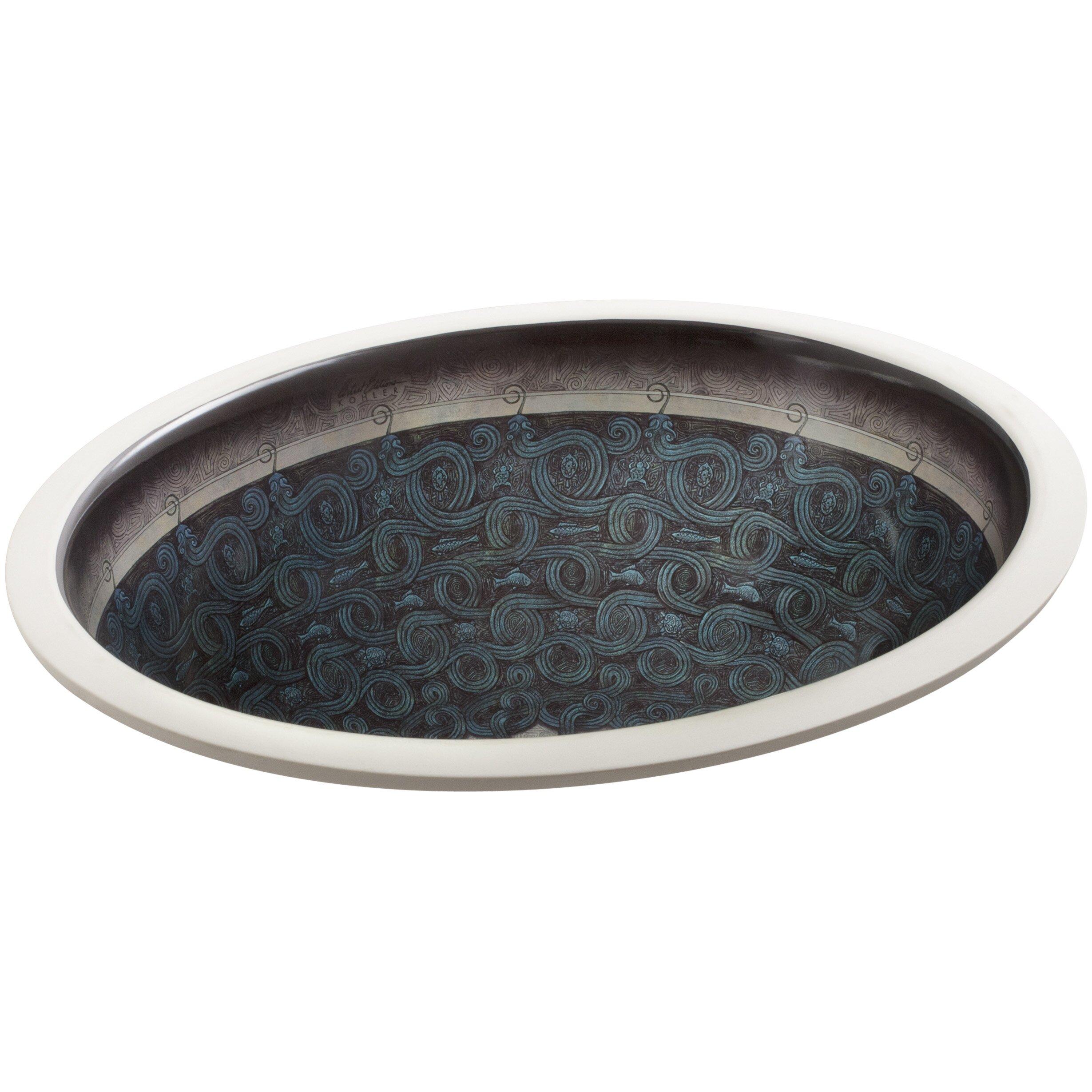 Serpentine Bronze Design On Caxton Undermount Bathroom Sink Wayfair