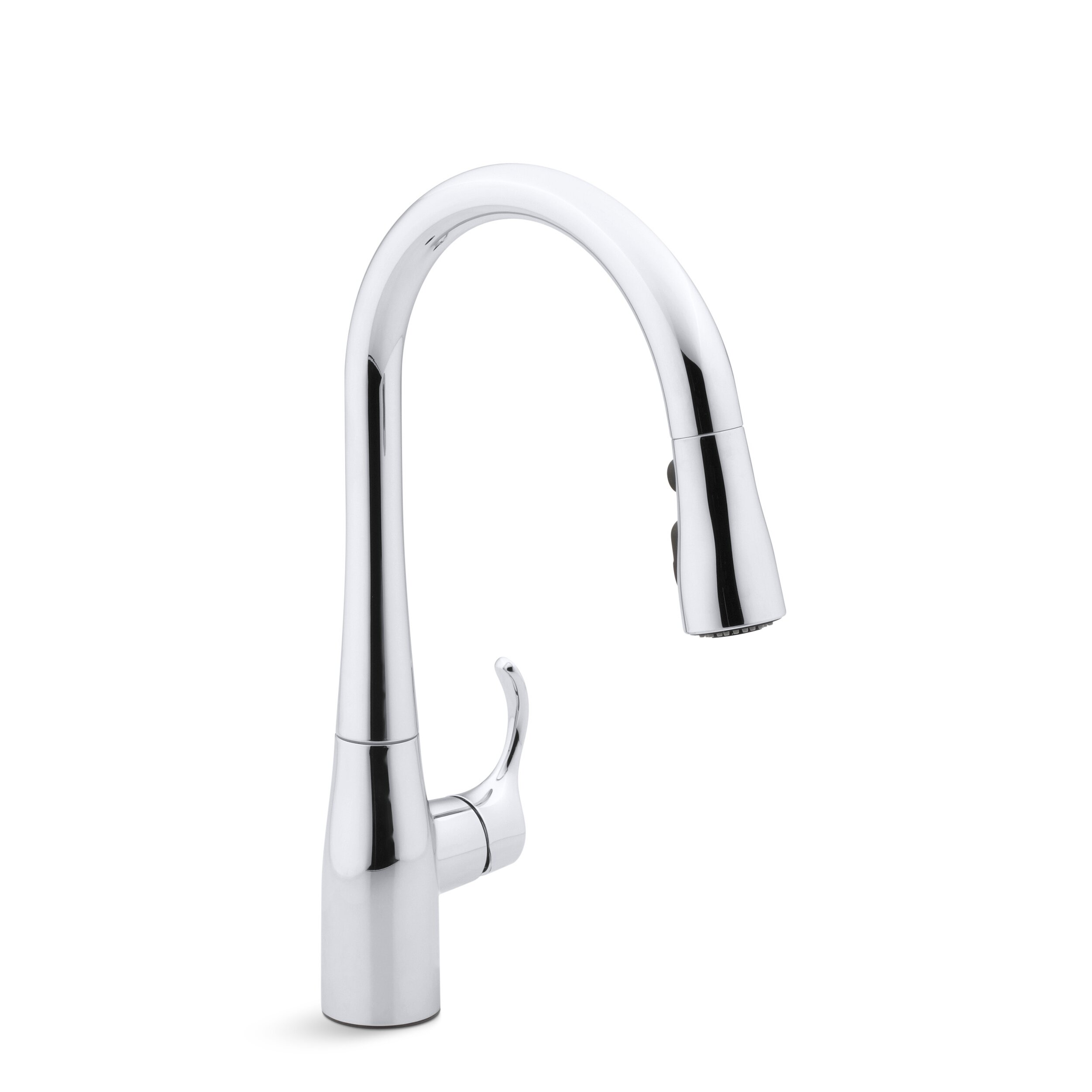 kohler simplice single hole kitchen sink faucet with 15 3