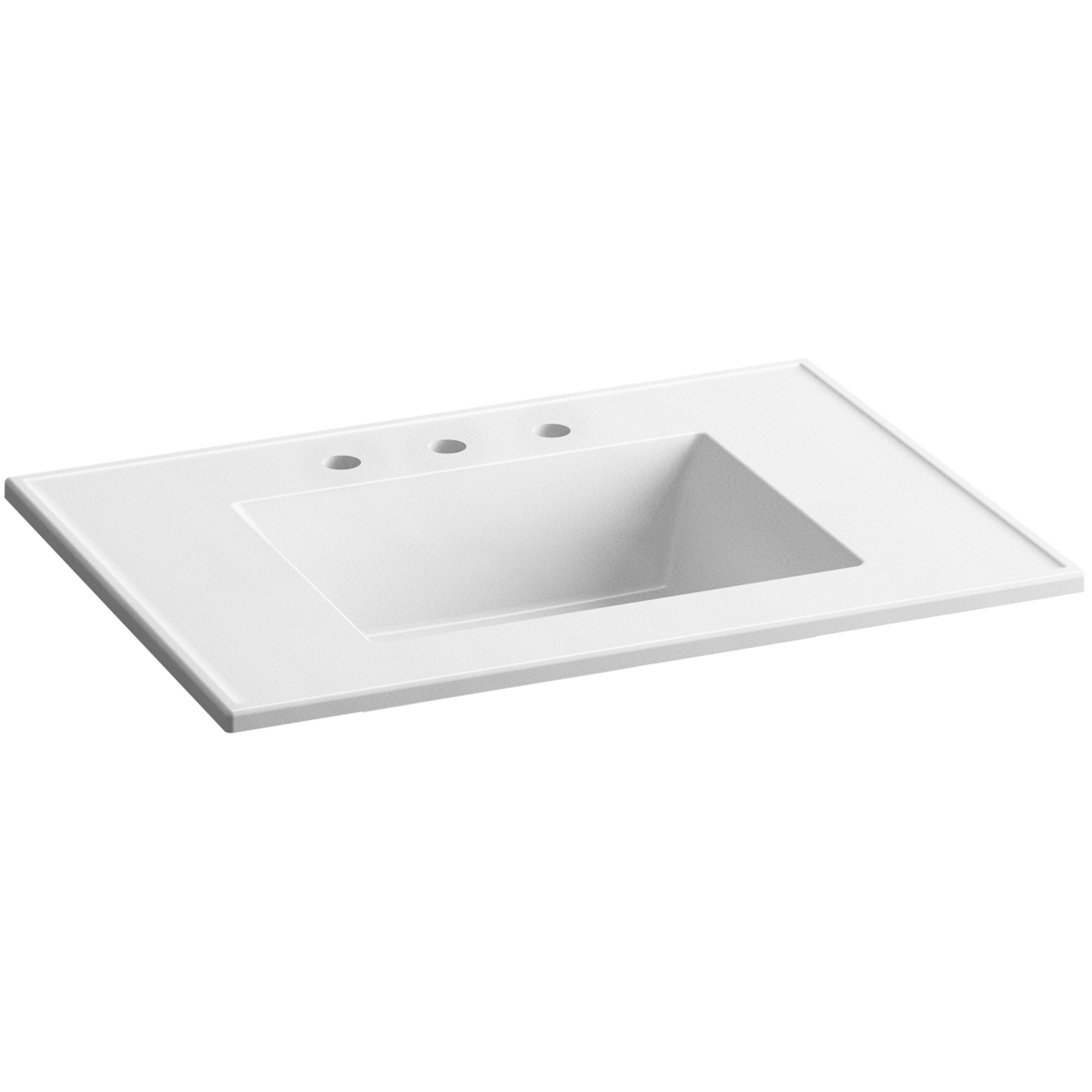 Kohler Ceramic Impressions 31 Rectangular Vanity Top Bathroom Sink With 8 Widespread Faucet
