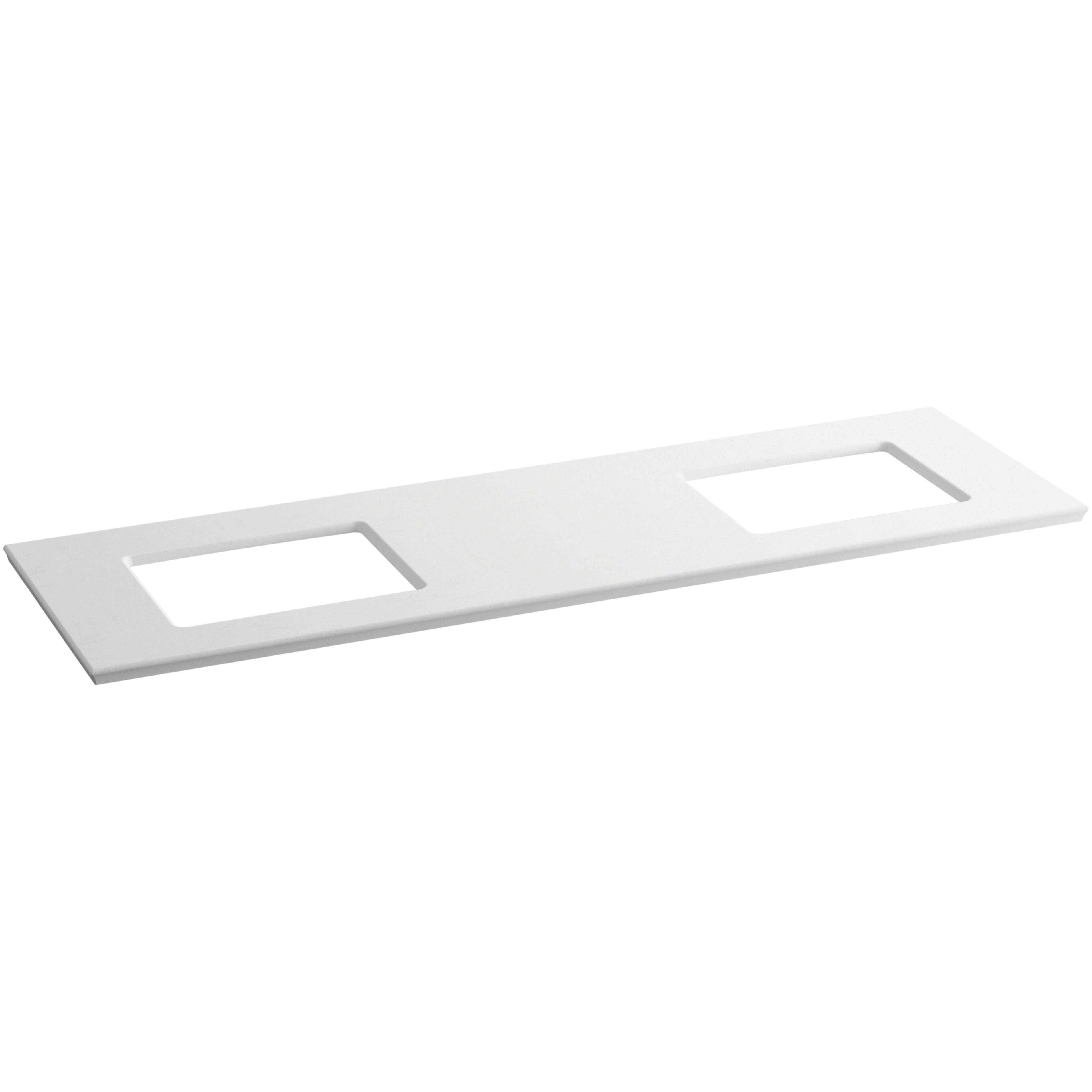 Solid Expressions 73 Quot Vanity Top With Double Verticyl Rectangular Cutout Wayfair