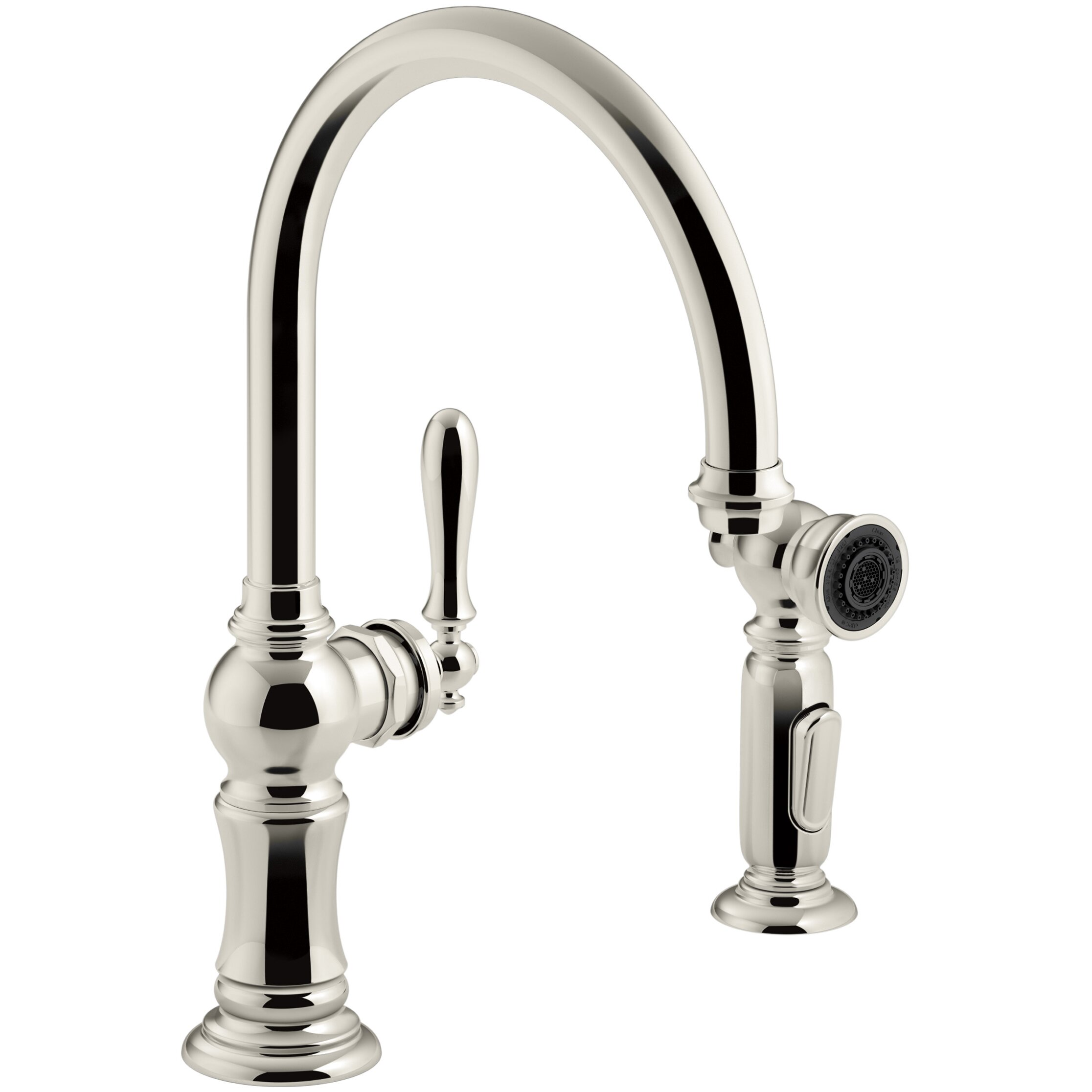 kohler artifacts 2 hole kitchen sink faucet with swing