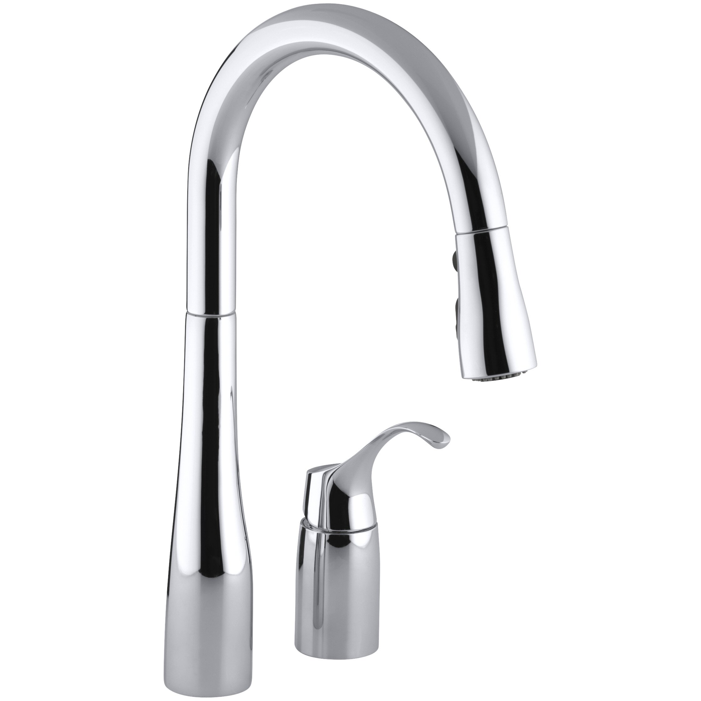 kohler simplice two hole kitchen sink faucet with 16 1 8